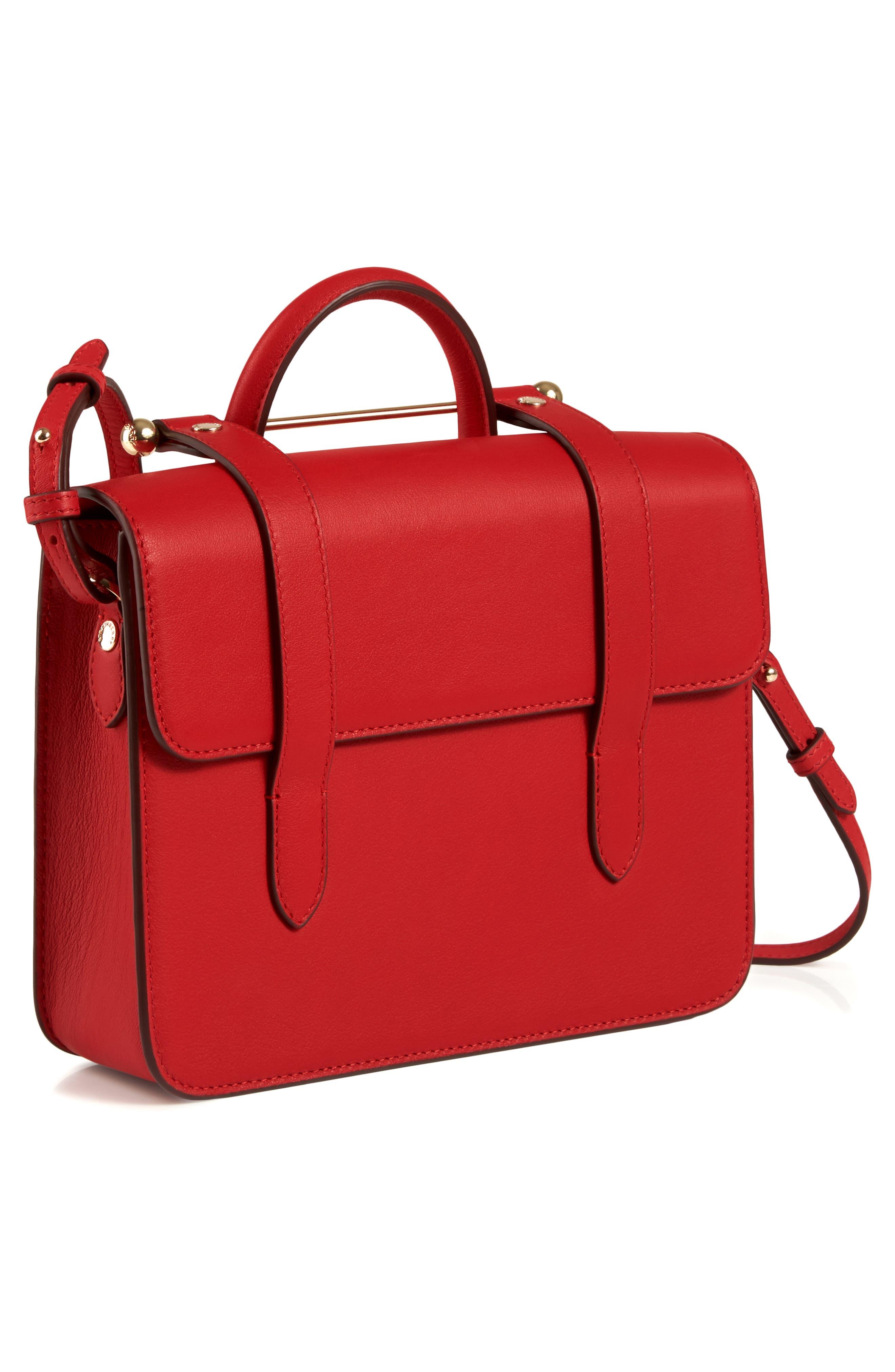 MC Mini Leather Crossbody Bag,                             Alternate thumbnail 8, color,