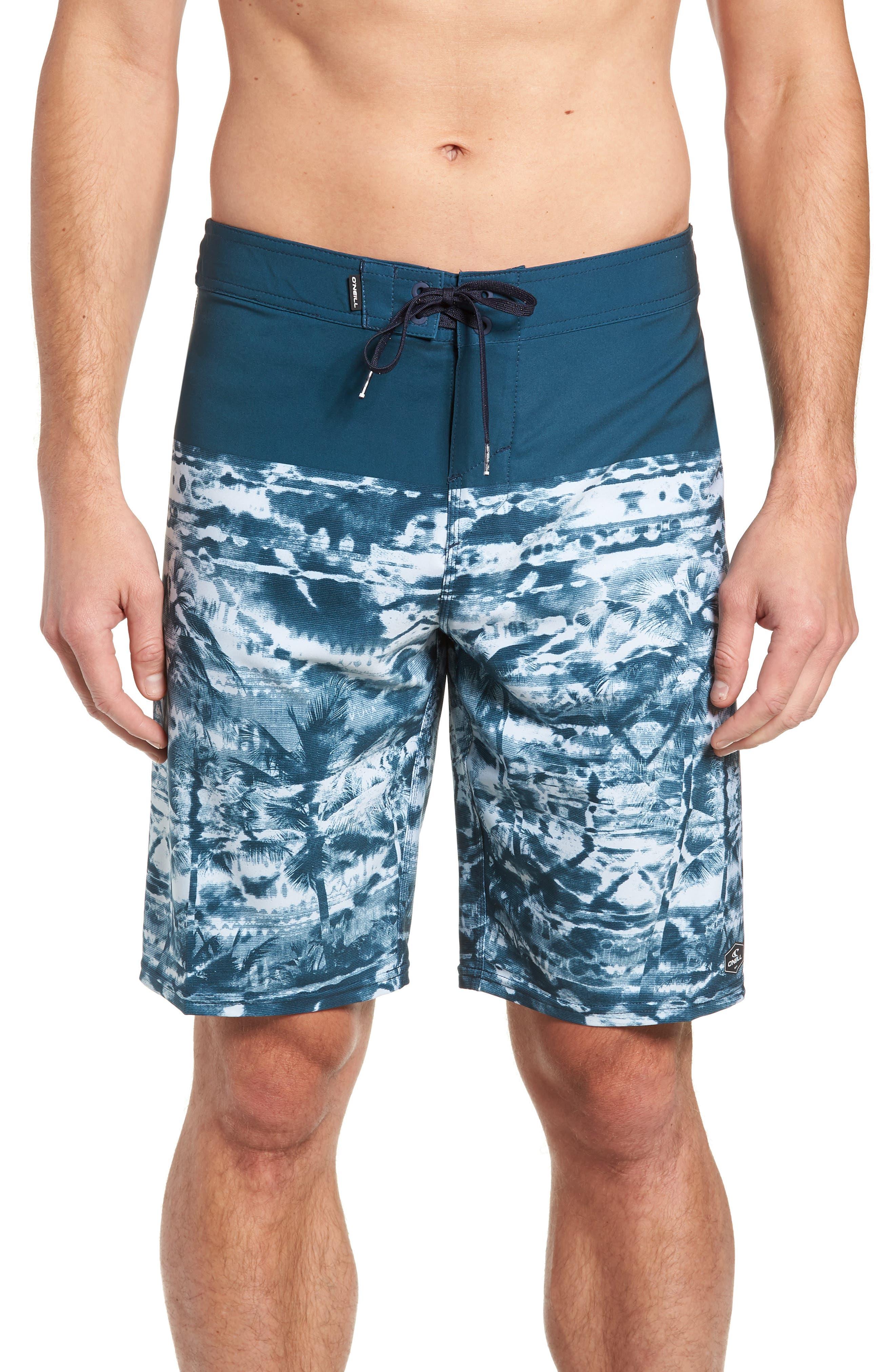 Hyperfreak Vietpalm Board Shorts,                             Main thumbnail 1, color,                             DARK BLUE