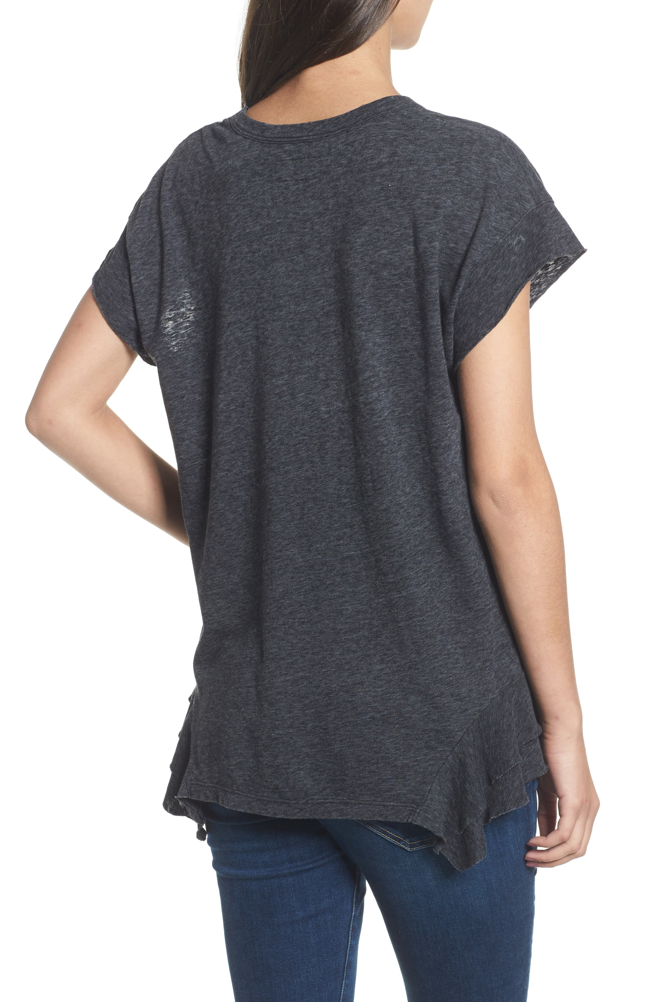 The Tier Ruffle Tee,                             Alternate thumbnail 2, color,                             088