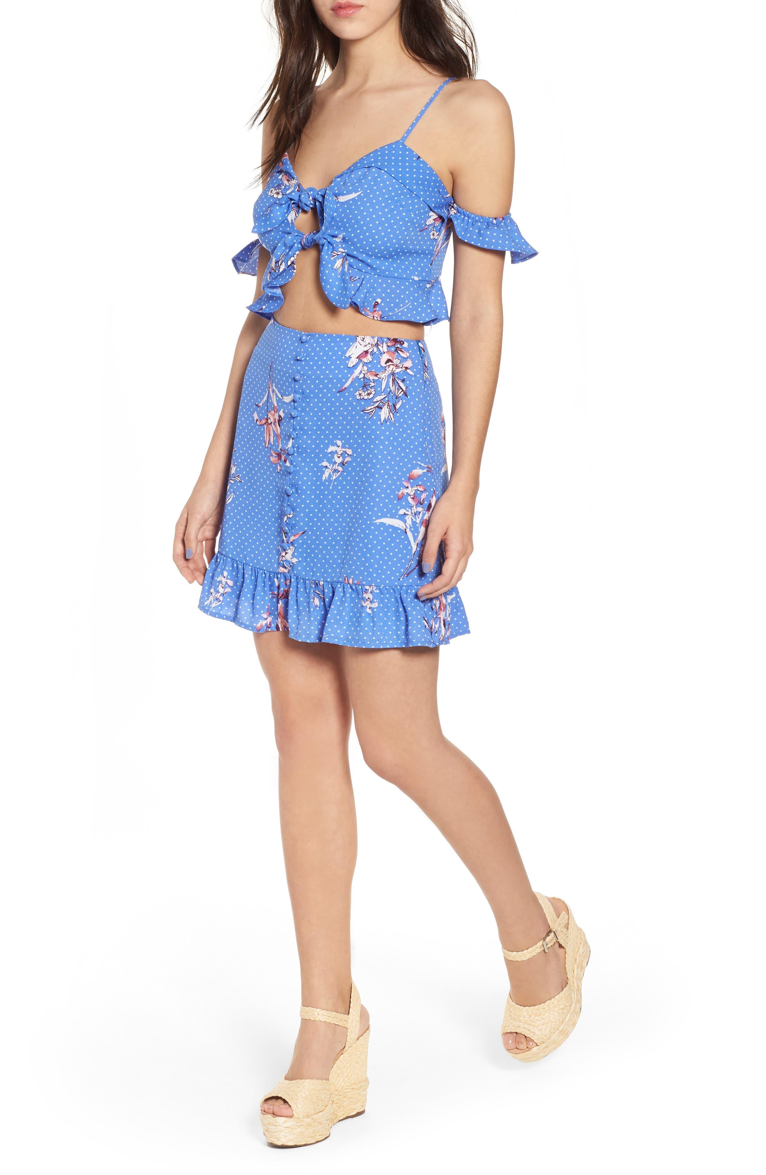 Vanessa Ruffle Hem Skirt,                             Alternate thumbnail 7, color,                             430