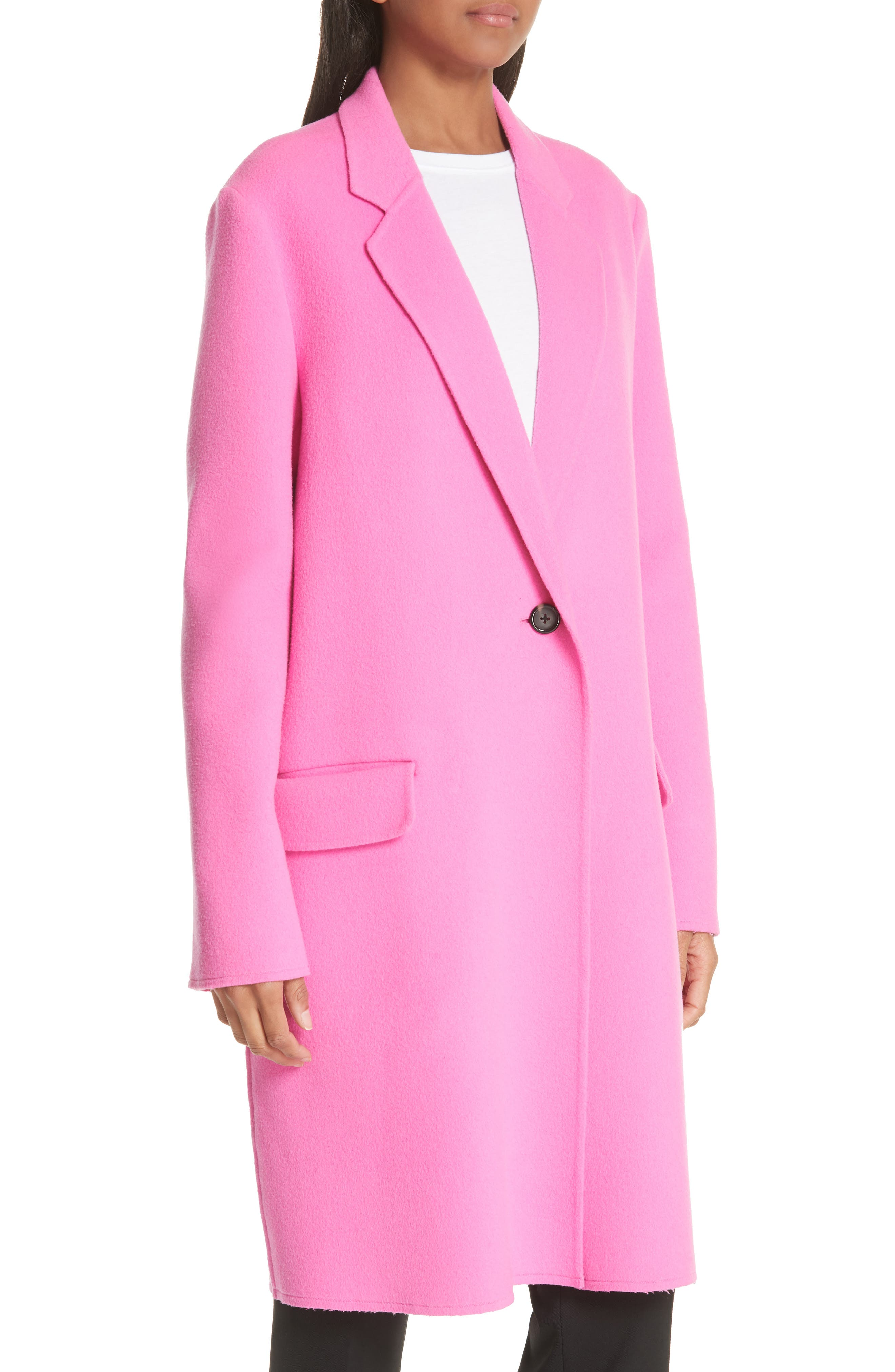 Double Face Wool & Cashmere Coat,                             Alternate thumbnail 4, color,                             694