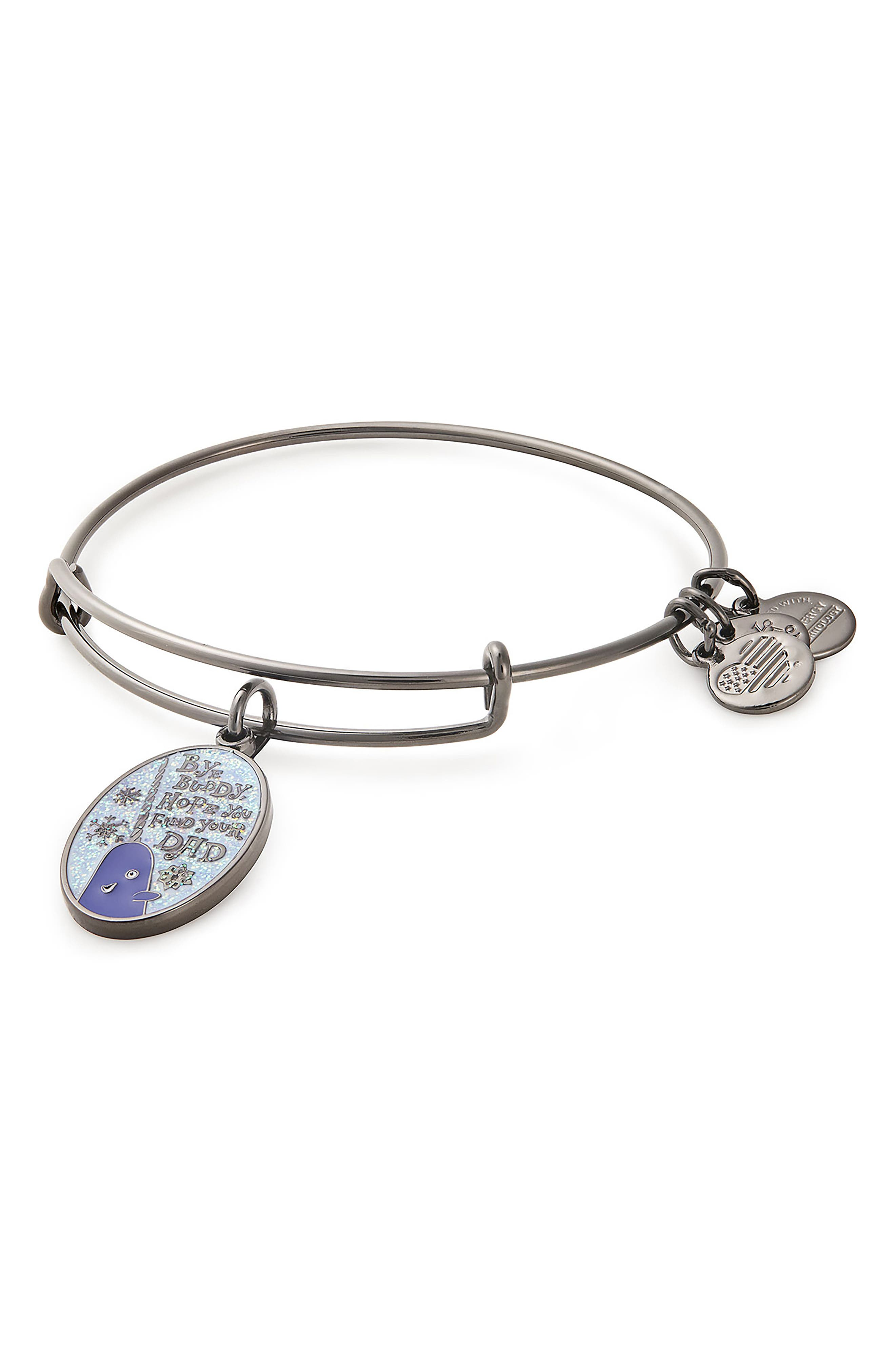 ALEX AND ANI,                             'Elf' Bye Buddy Adjustable Wire Bracelet,                             Main thumbnail 1, color,                             020