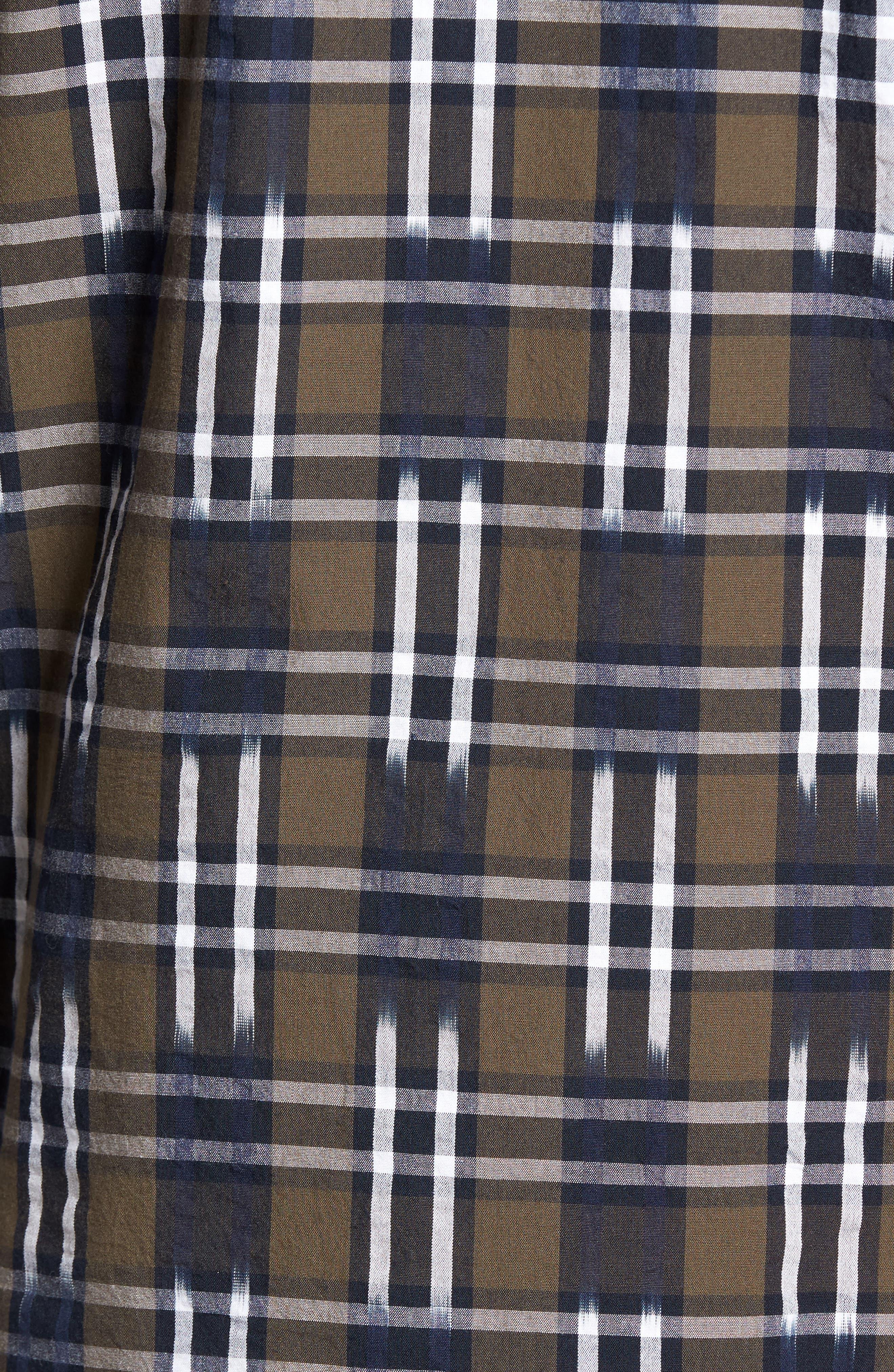 Slim Fit Ikat Check Sport Shirt,                             Alternate thumbnail 5, color,                             250