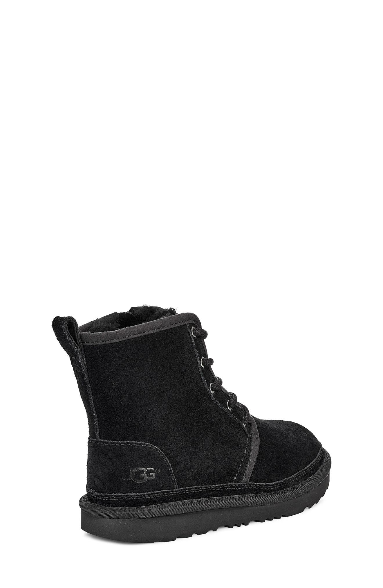 Harkley Lace-Up Boot,                             Alternate thumbnail 2, color,                             BLACK