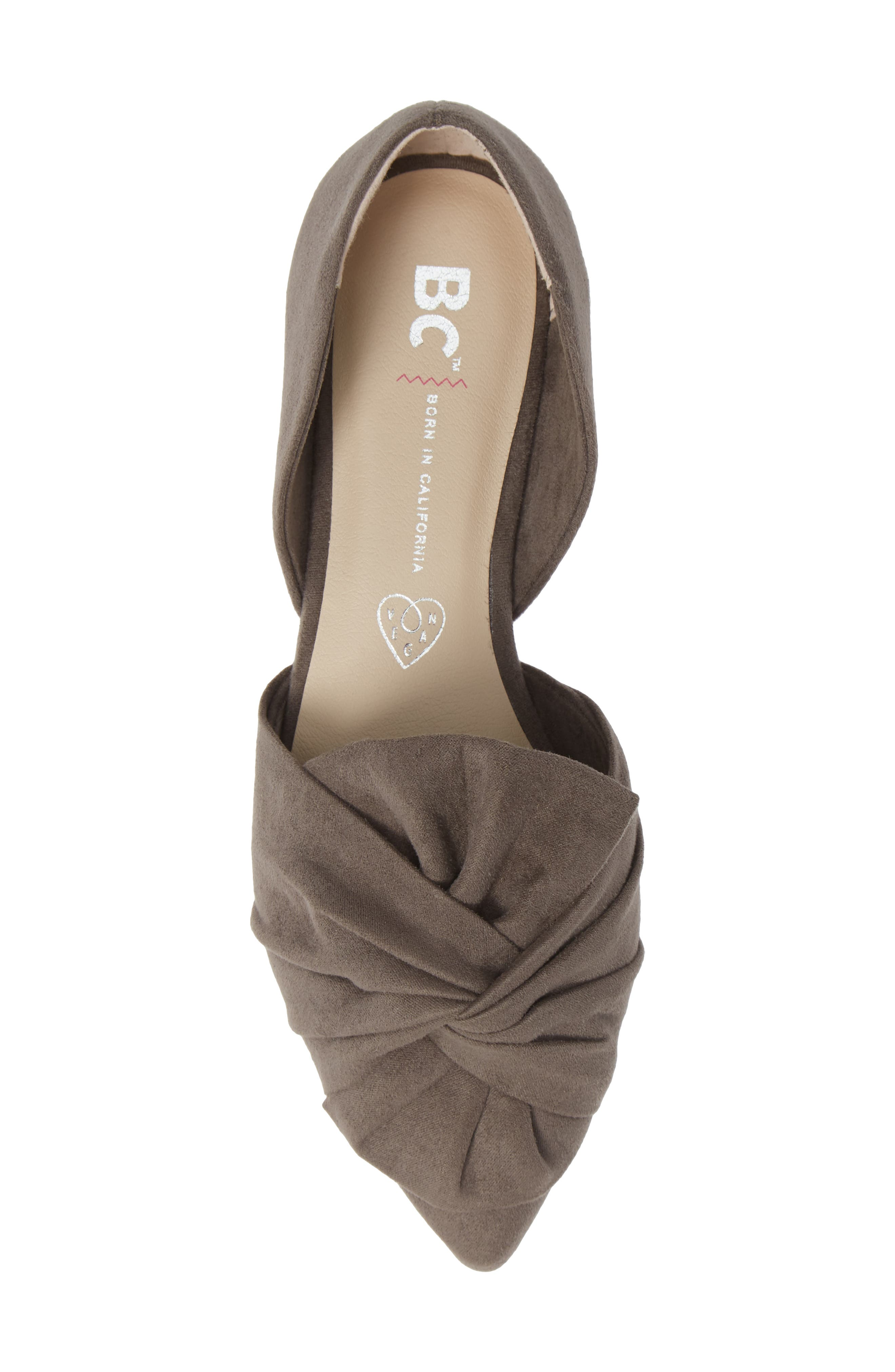 Snow Cone d'Orsay Flat,                             Alternate thumbnail 5, color,                             GREY SUEDE
