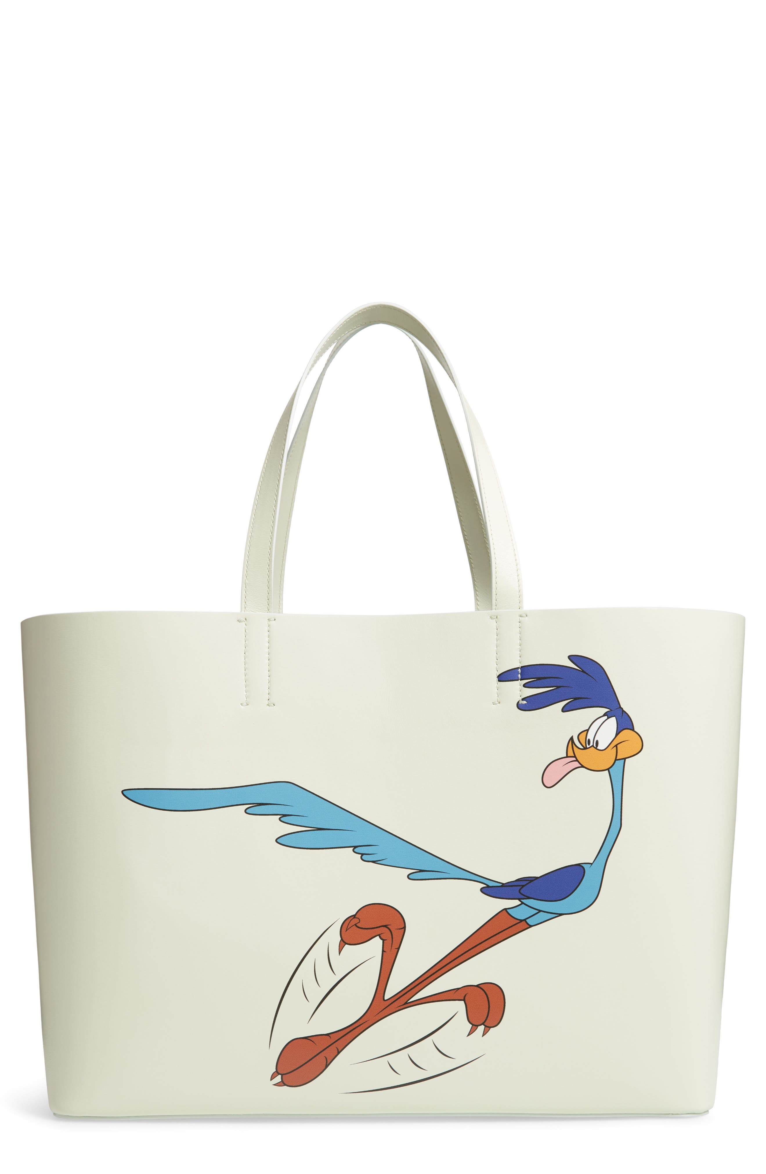 CALVIN KLEIN 205W39NYC,                             Road Runner East/West Leather Tote,                             Main thumbnail 1, color,                             053