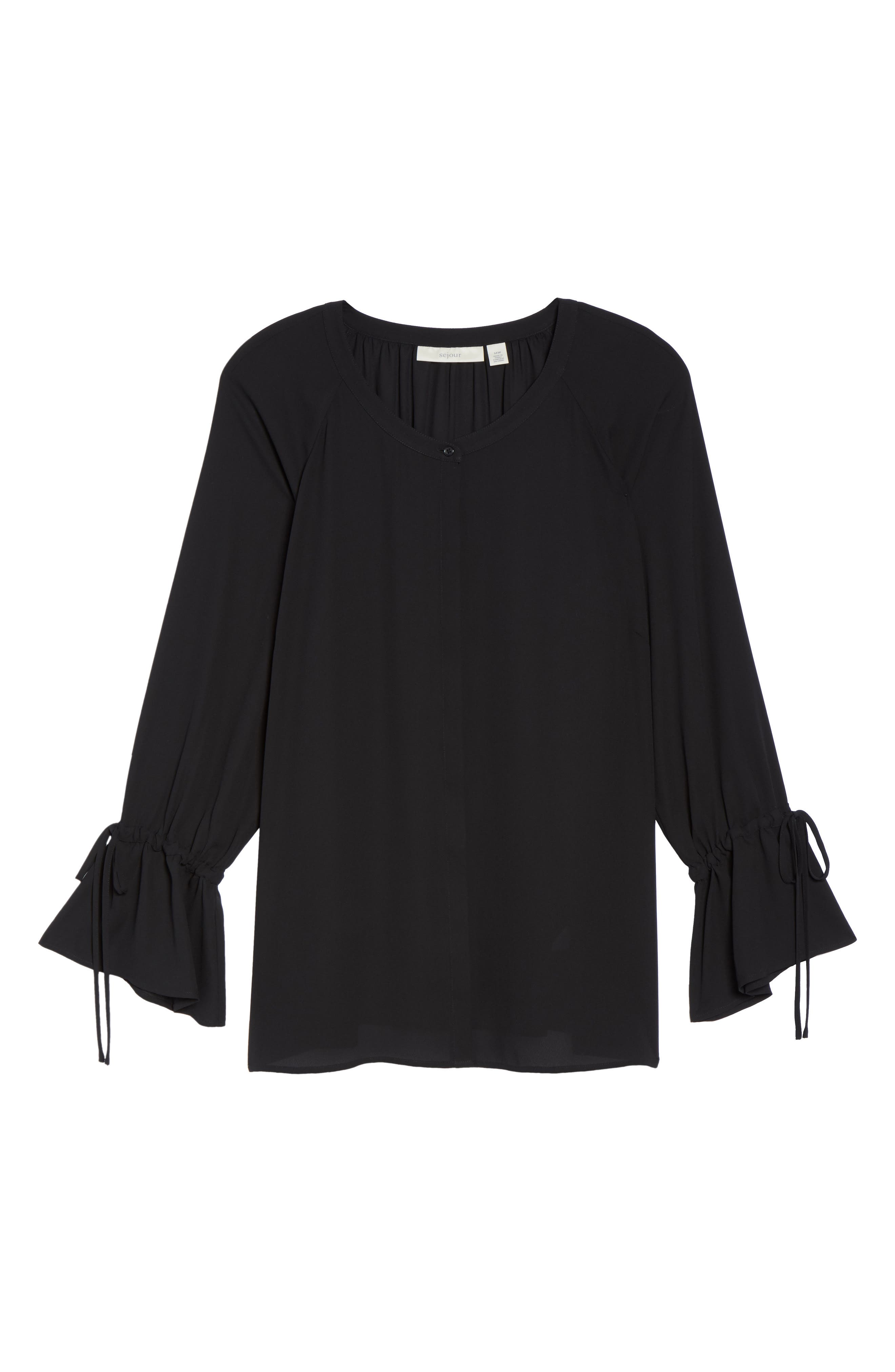 Tie Sleeve Blouse,                             Alternate thumbnail 21, color,