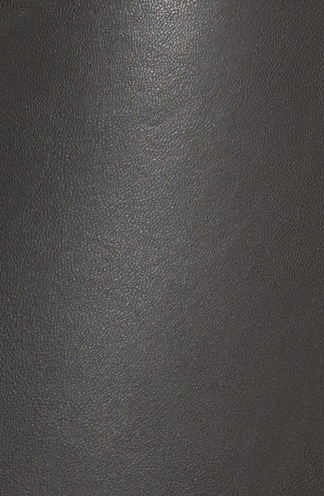 Moto Leatherette Skimmer Leggings,                             Alternate thumbnail 5, color,                             001