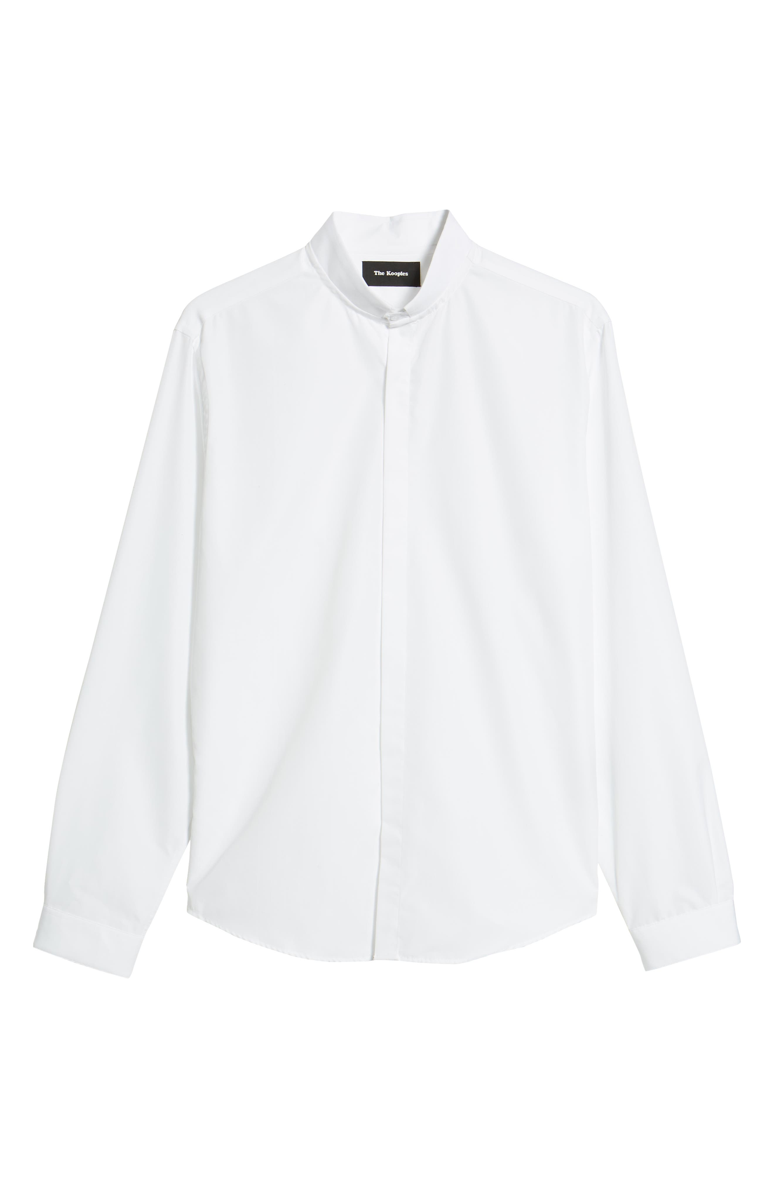 Slim Fit Solid Shirt,                             Alternate thumbnail 6, color,                             100