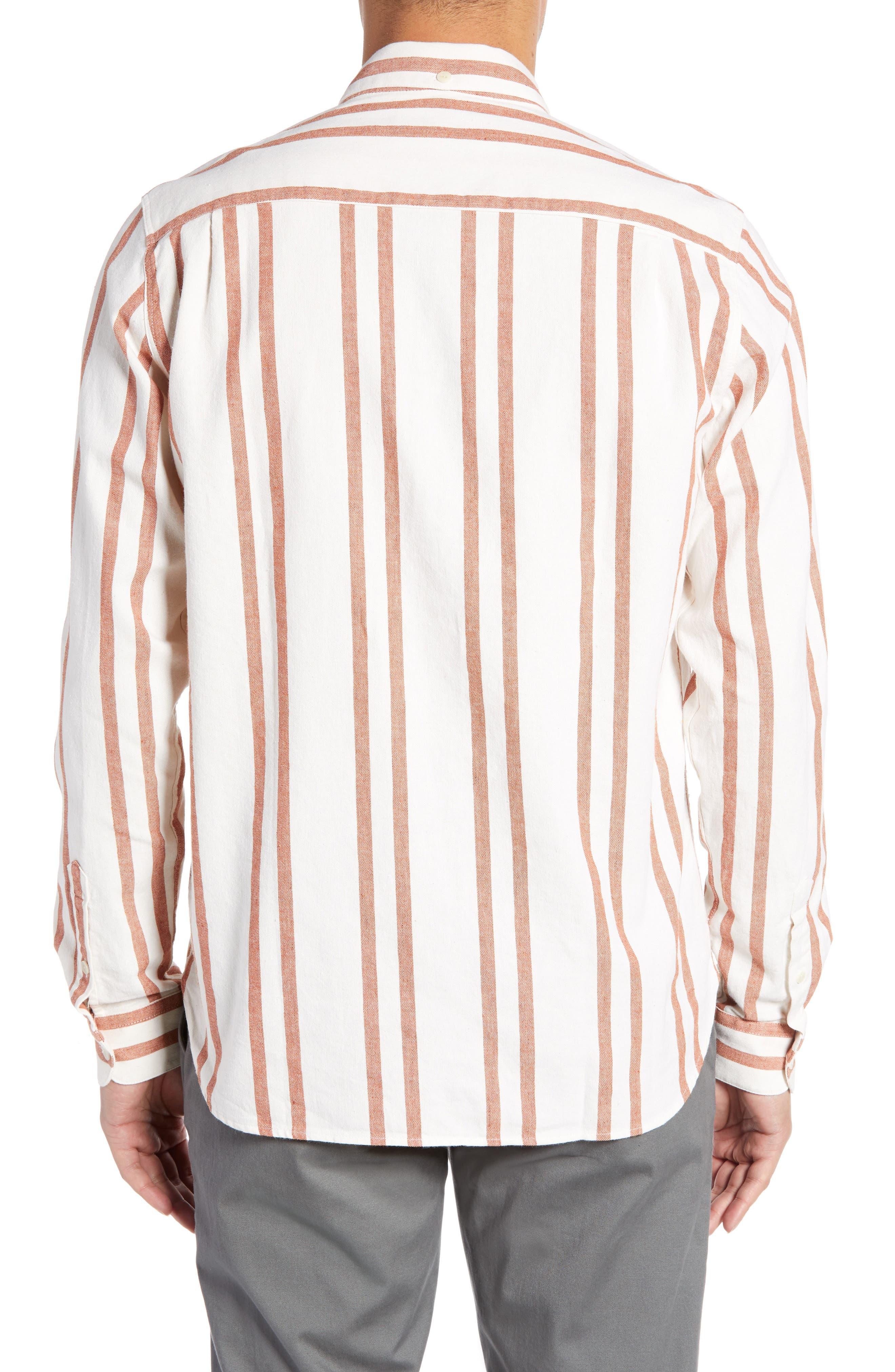 Dean Regular Fit Stripe Sport Shirt,                             Alternate thumbnail 2, color,                             ORANGE