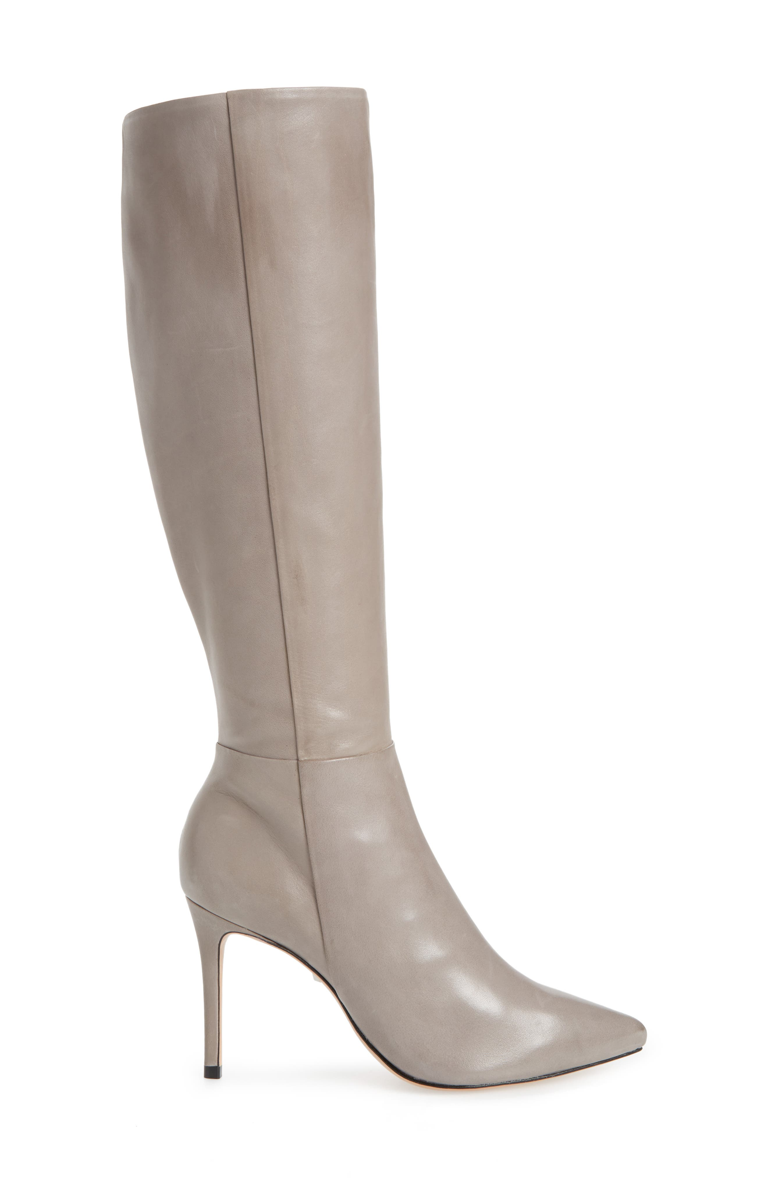 Magalli Knee High Boot,                             Alternate thumbnail 3, color,                             MOUSE LEATHER