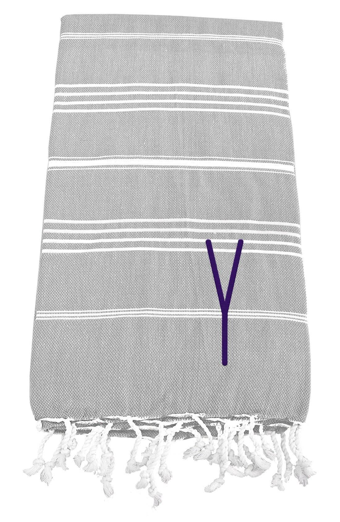Monogram Turkish Cotton Towel,                             Main thumbnail 27, color,