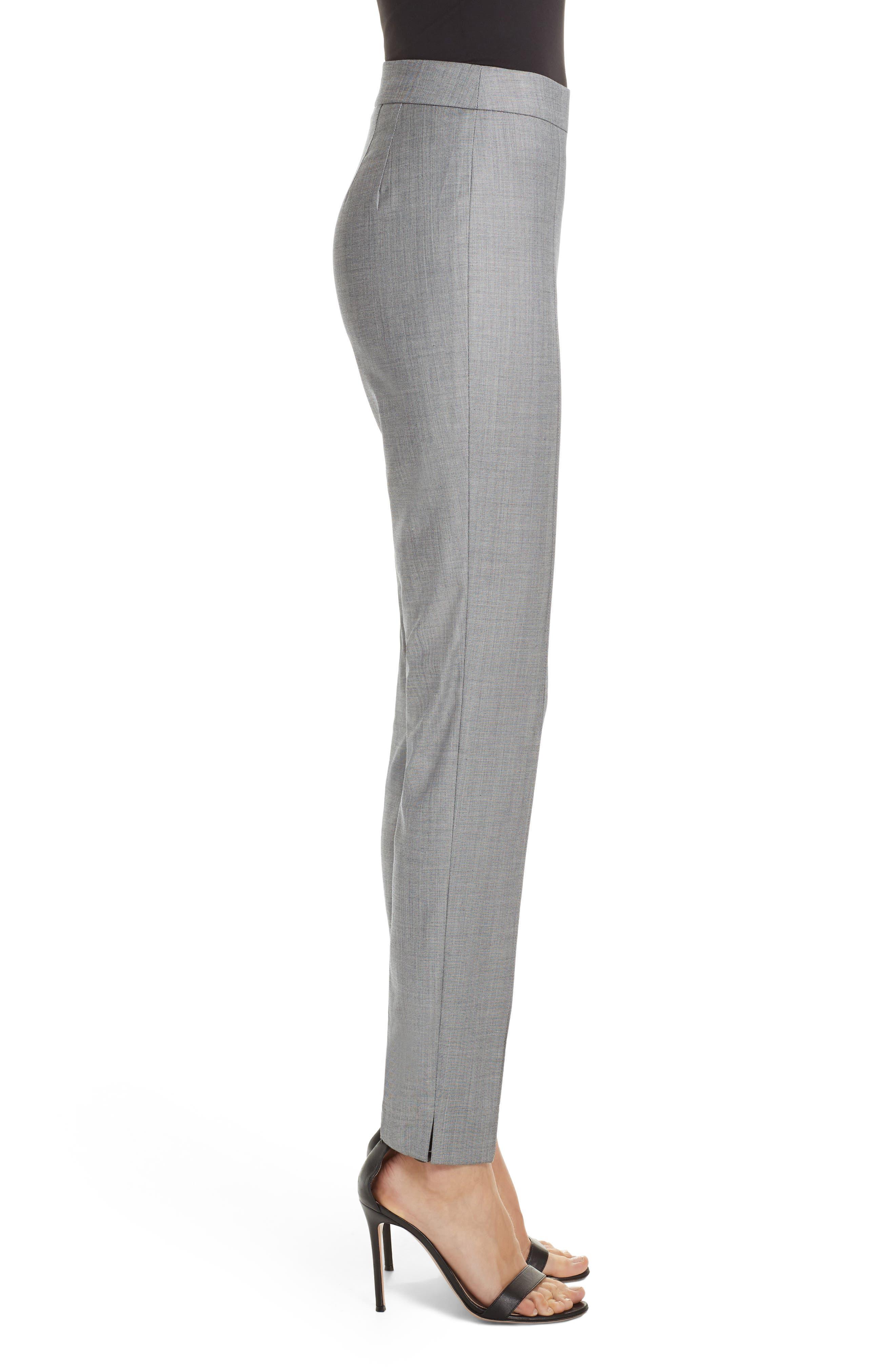 Sharkskin Stretch Wool Blend Skinny Ankle Pants,                             Alternate thumbnail 3, color,                             GREY MULTI