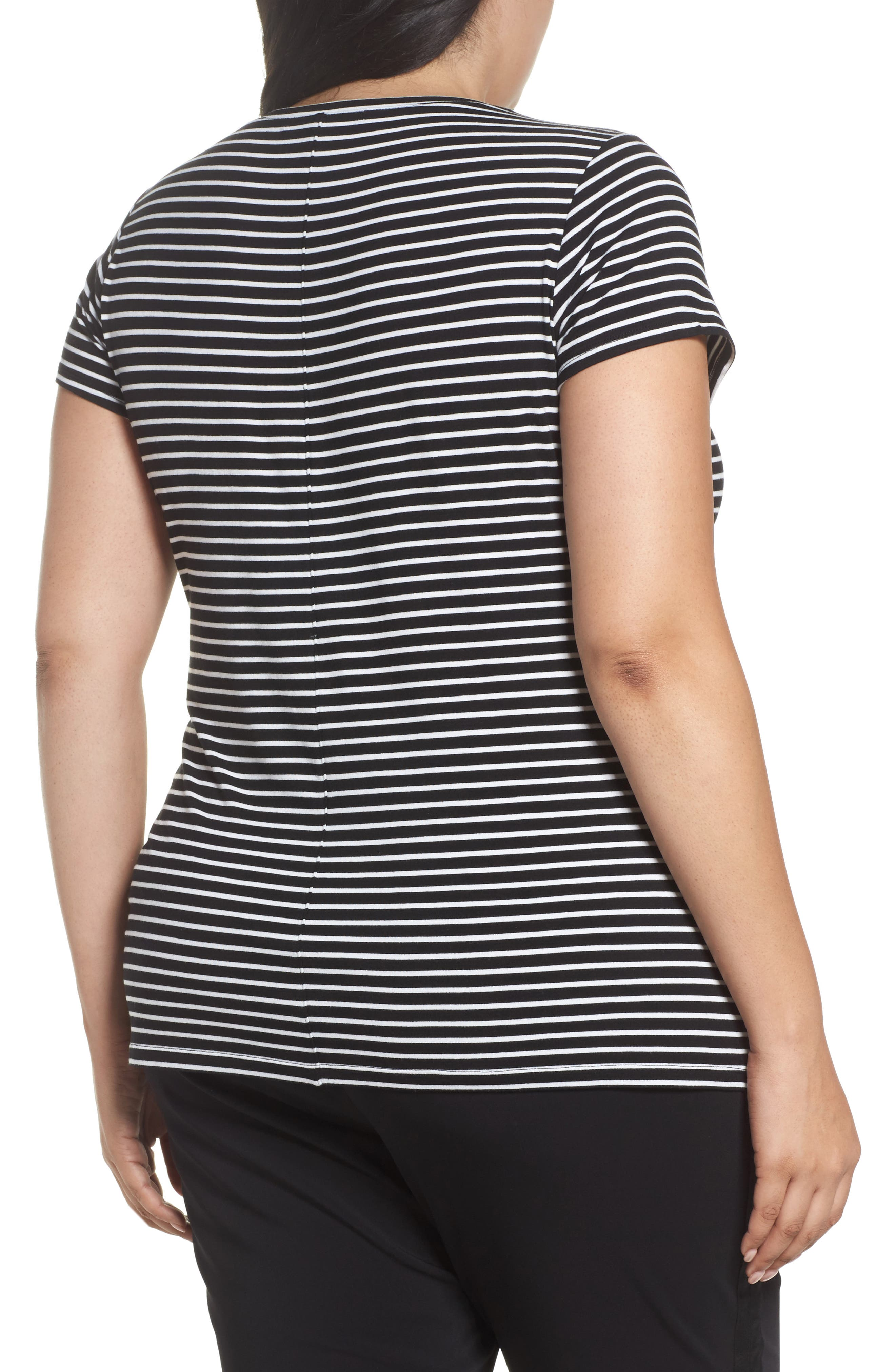 Stretch Scoop Neck Tee,                             Alternate thumbnail 5, color,