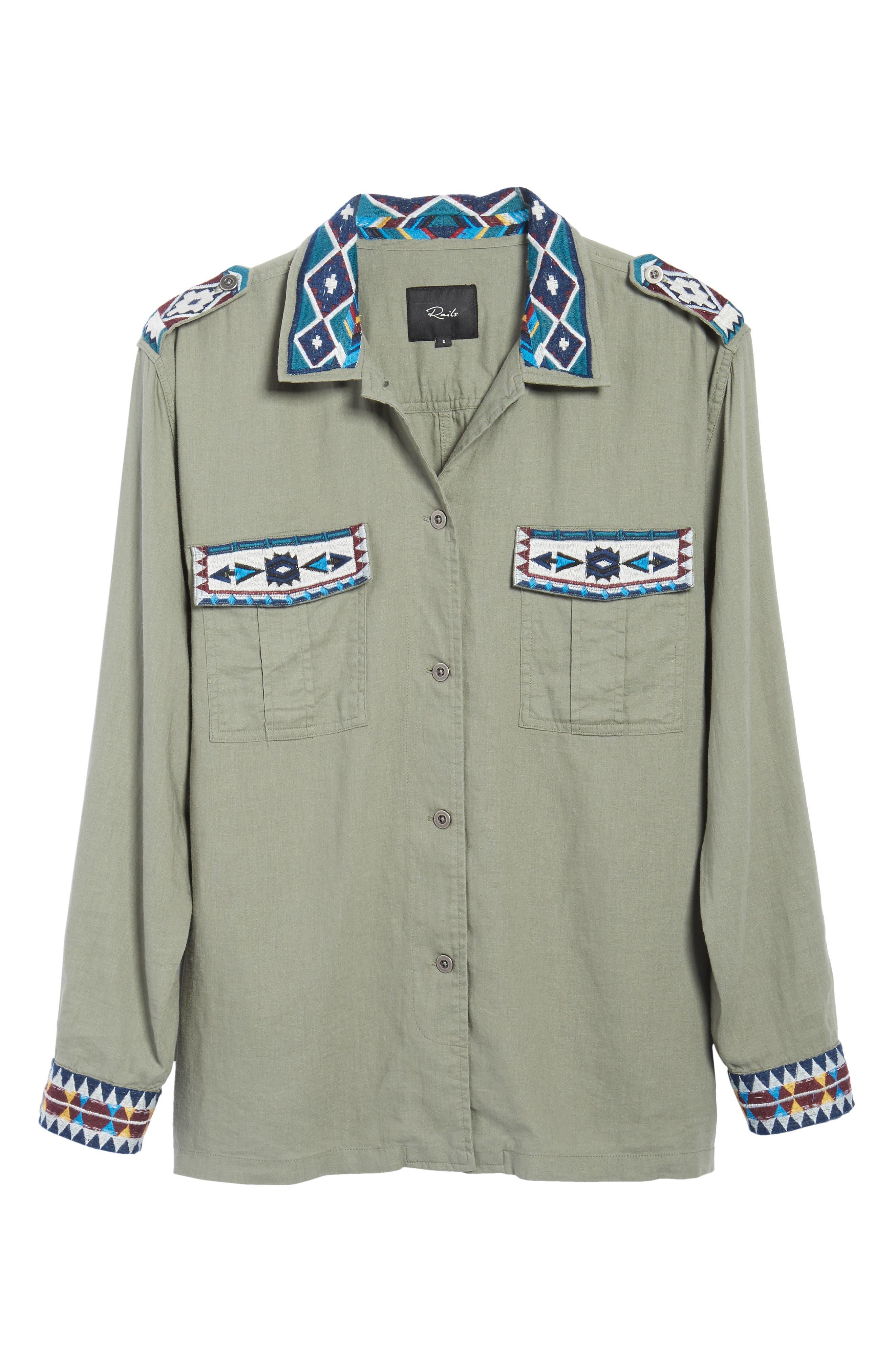 Kona Embroidered Shirt,                             Alternate thumbnail 6, color,                             320