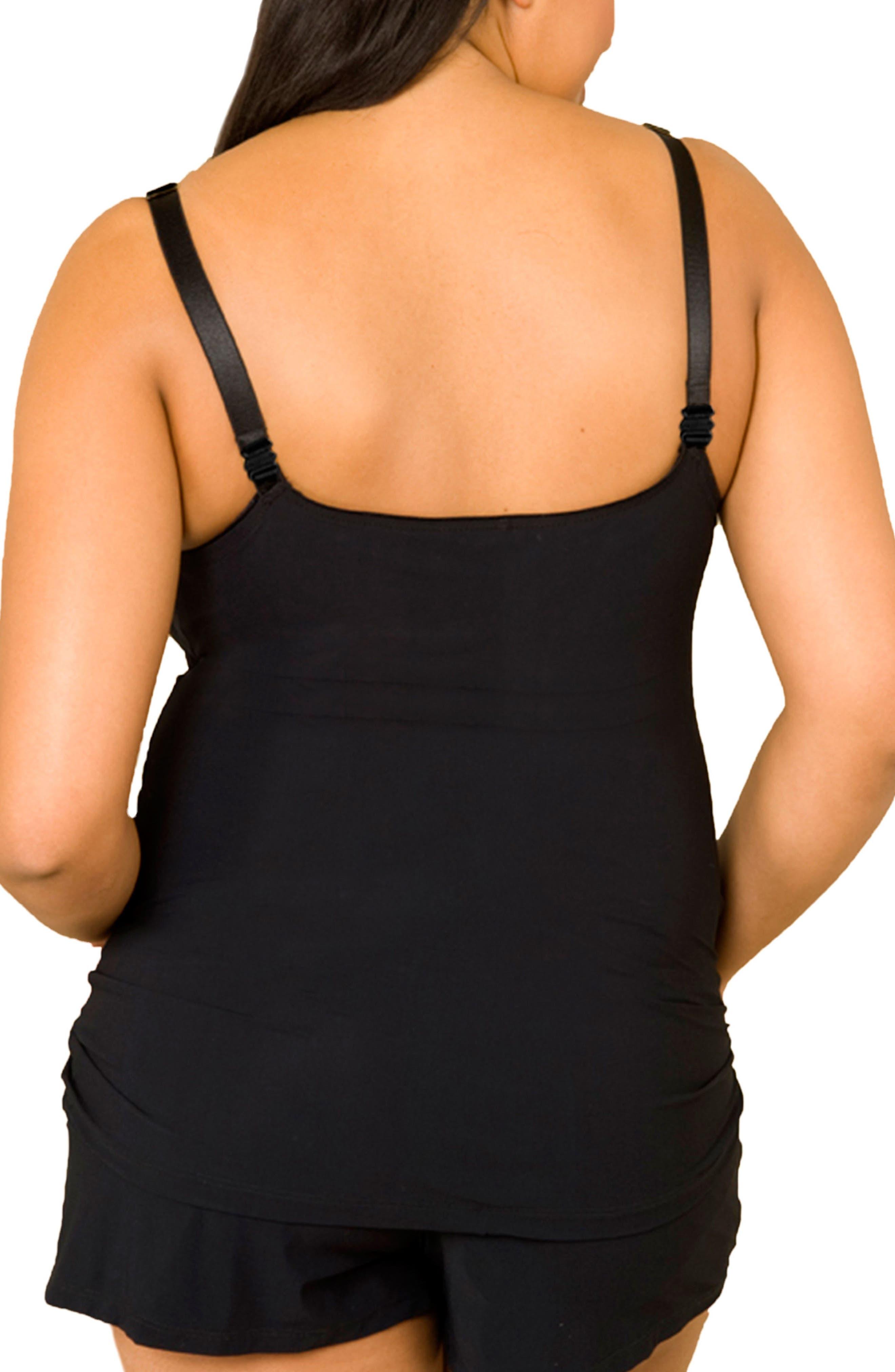 Choice Full Figure Maternity/Nursing Camisole,                             Alternate thumbnail 5, color,                             BLACK