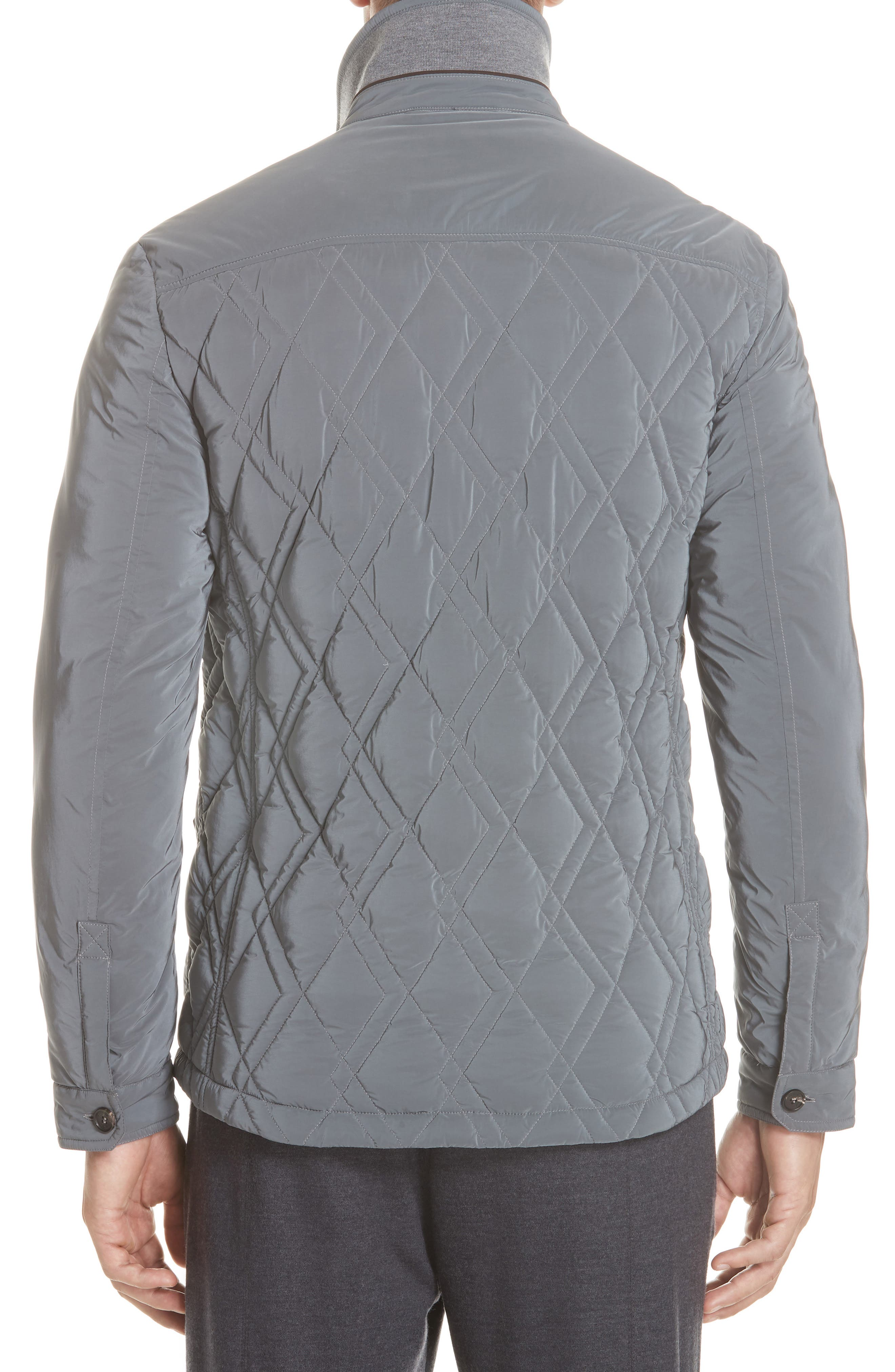 Quilted Down Jacket,                             Alternate thumbnail 2, color,                             GREY