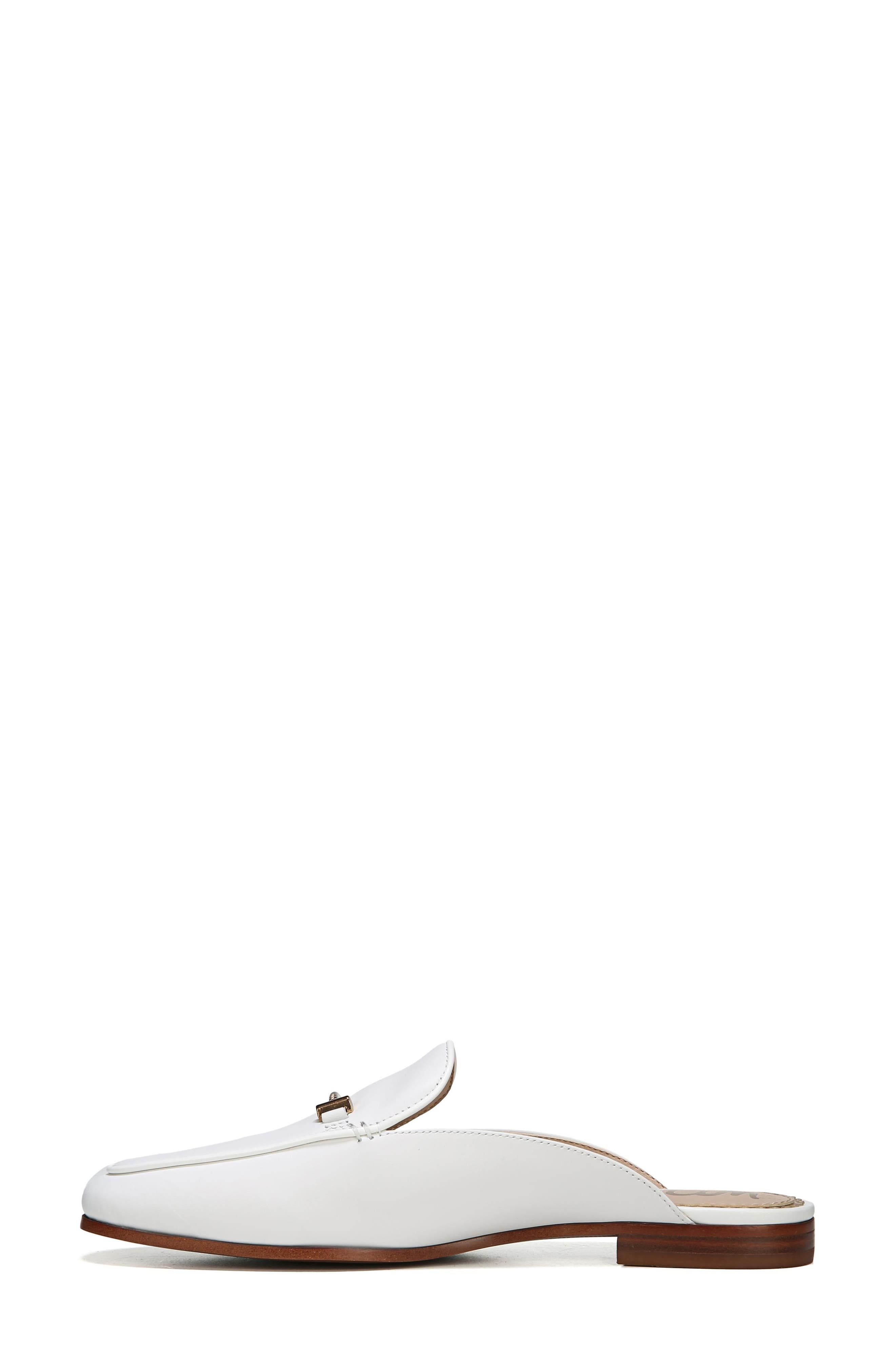 Laurna Mule,                             Alternate thumbnail 3, color,                             BRIGHT WHITE LEATHER