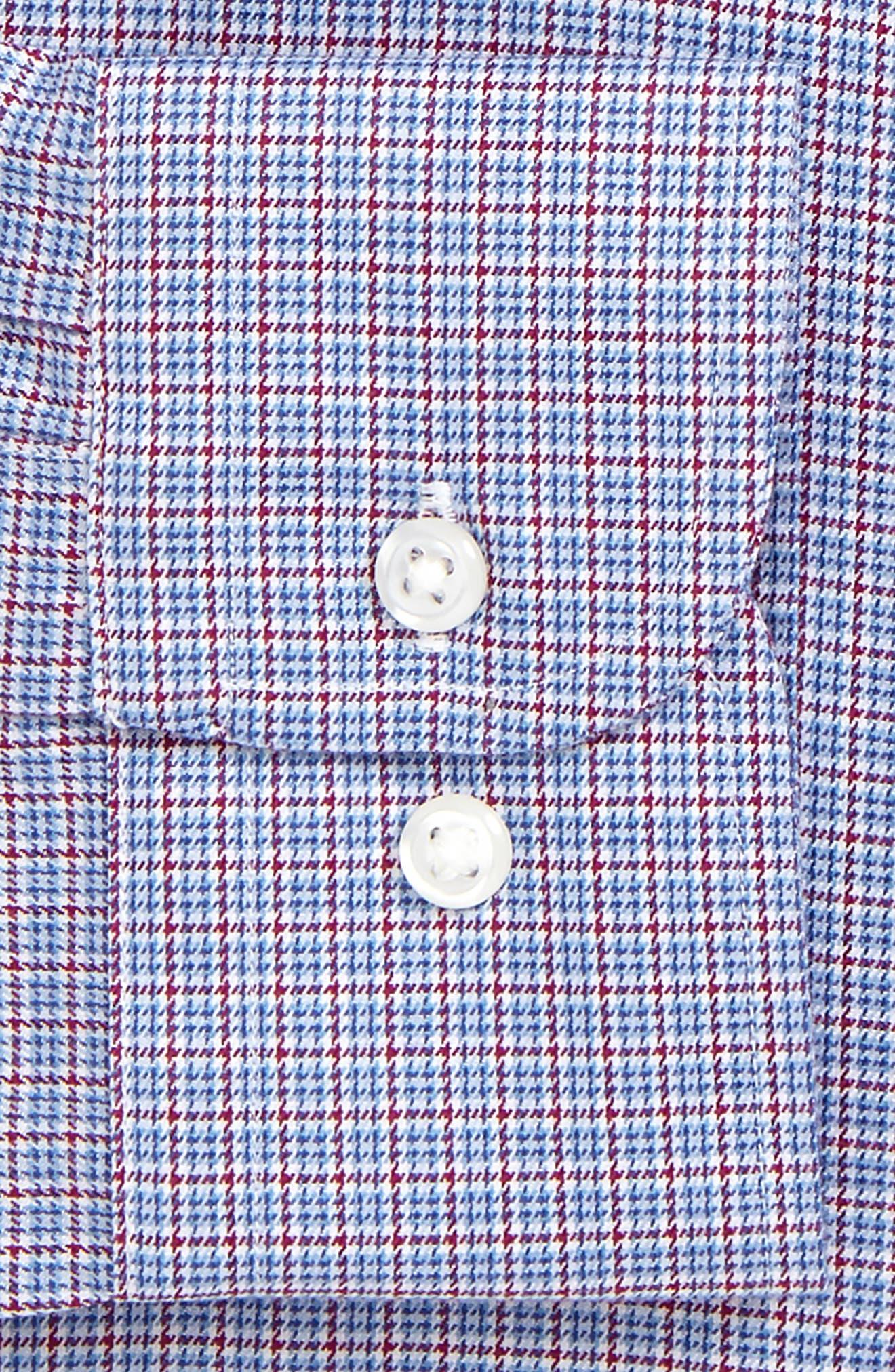 Smartcare<sup>™</sup> Trim Fit Check Dress Shirt,                             Alternate thumbnail 6, color,                             601