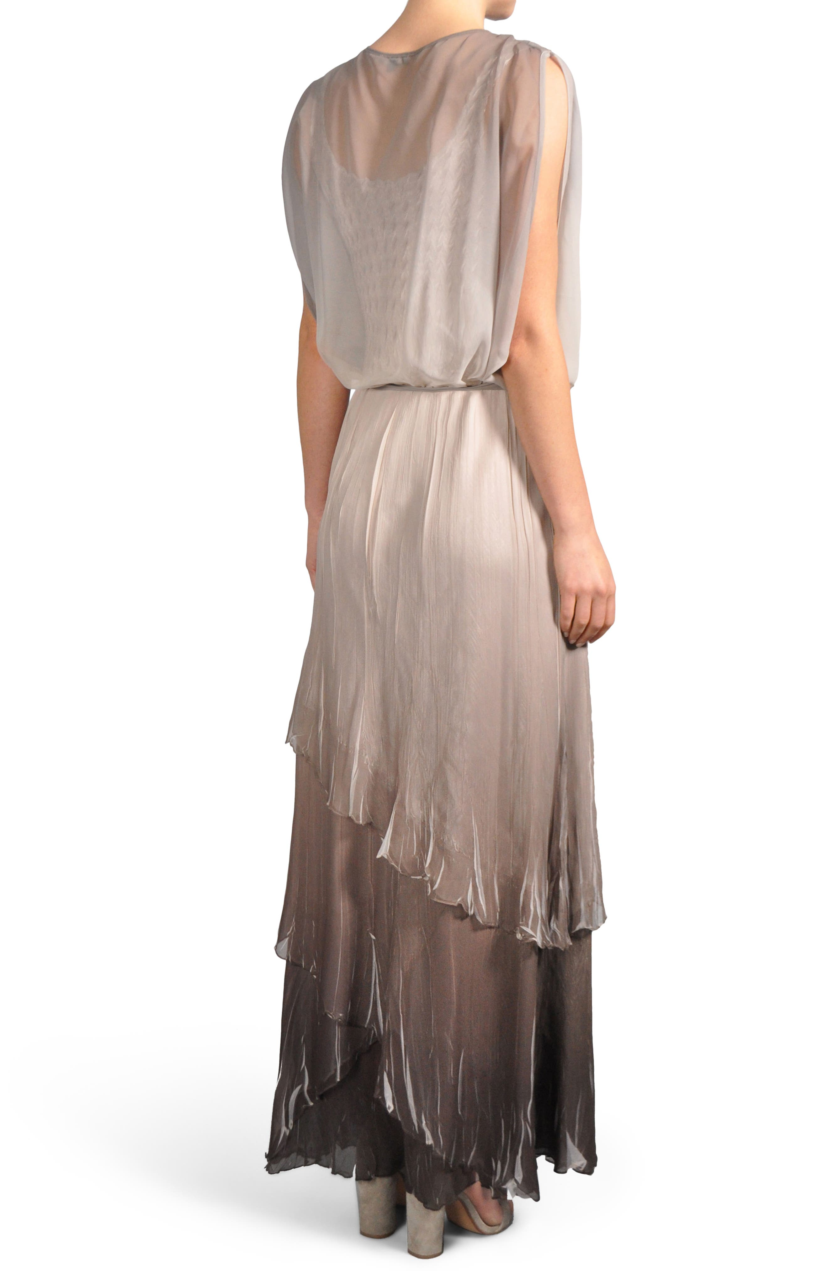 Ombré Tiered Skirt Blouson Gown,                             Alternate thumbnail 2, color,                             057