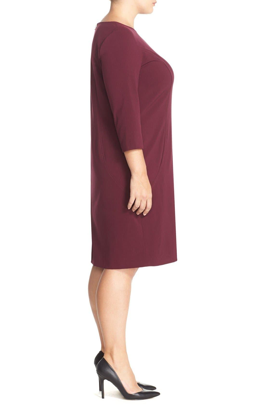 by Arthur S. Levine Seamed A-Line Dress,                             Alternate thumbnail 28, color,