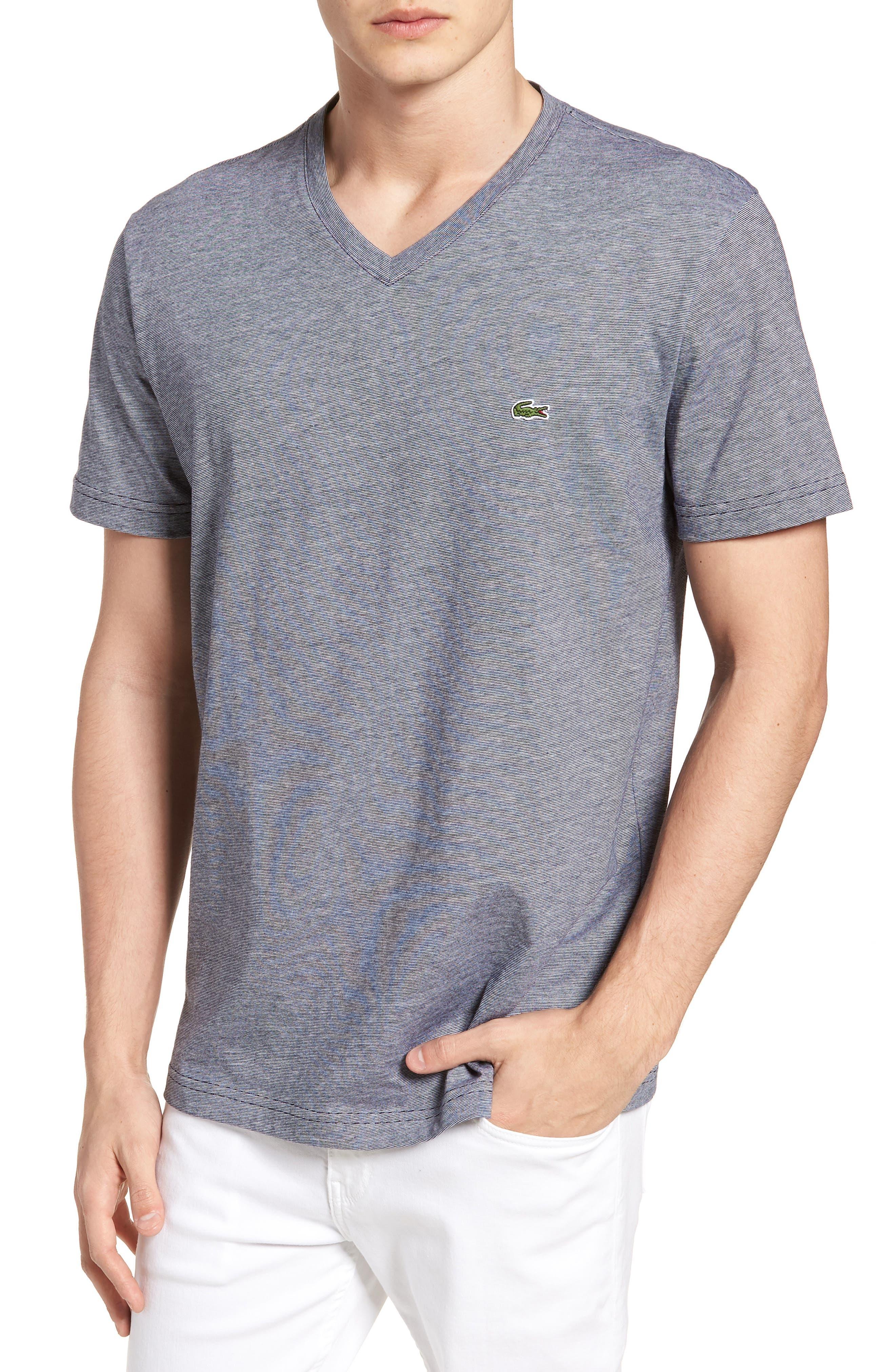 V-Neck Cotton T-Shirt,                             Main thumbnail 3, color,