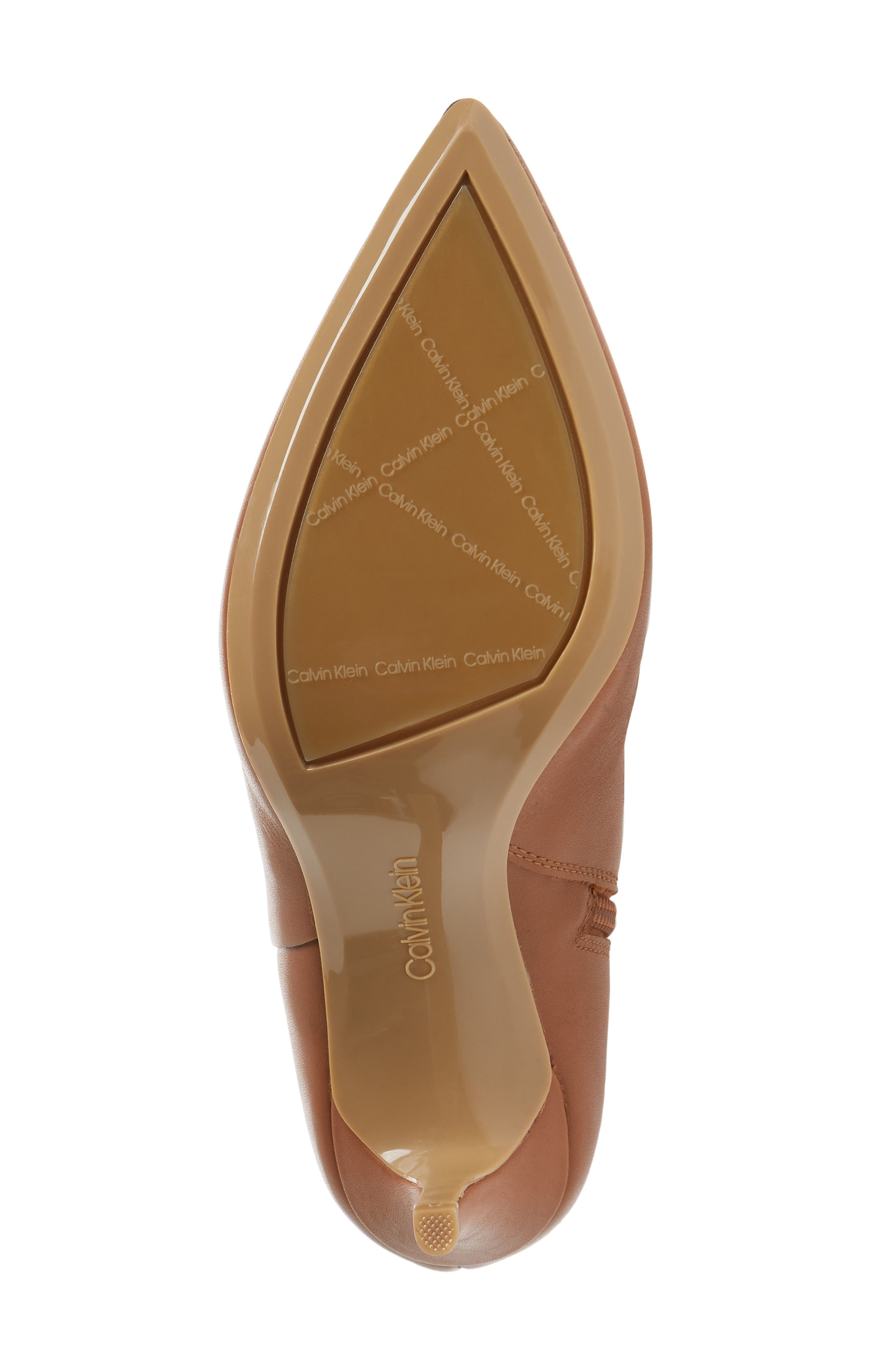 Glydia Stiletto Knee High Boot,                             Alternate thumbnail 6, color,                             COGNAC LEATHER