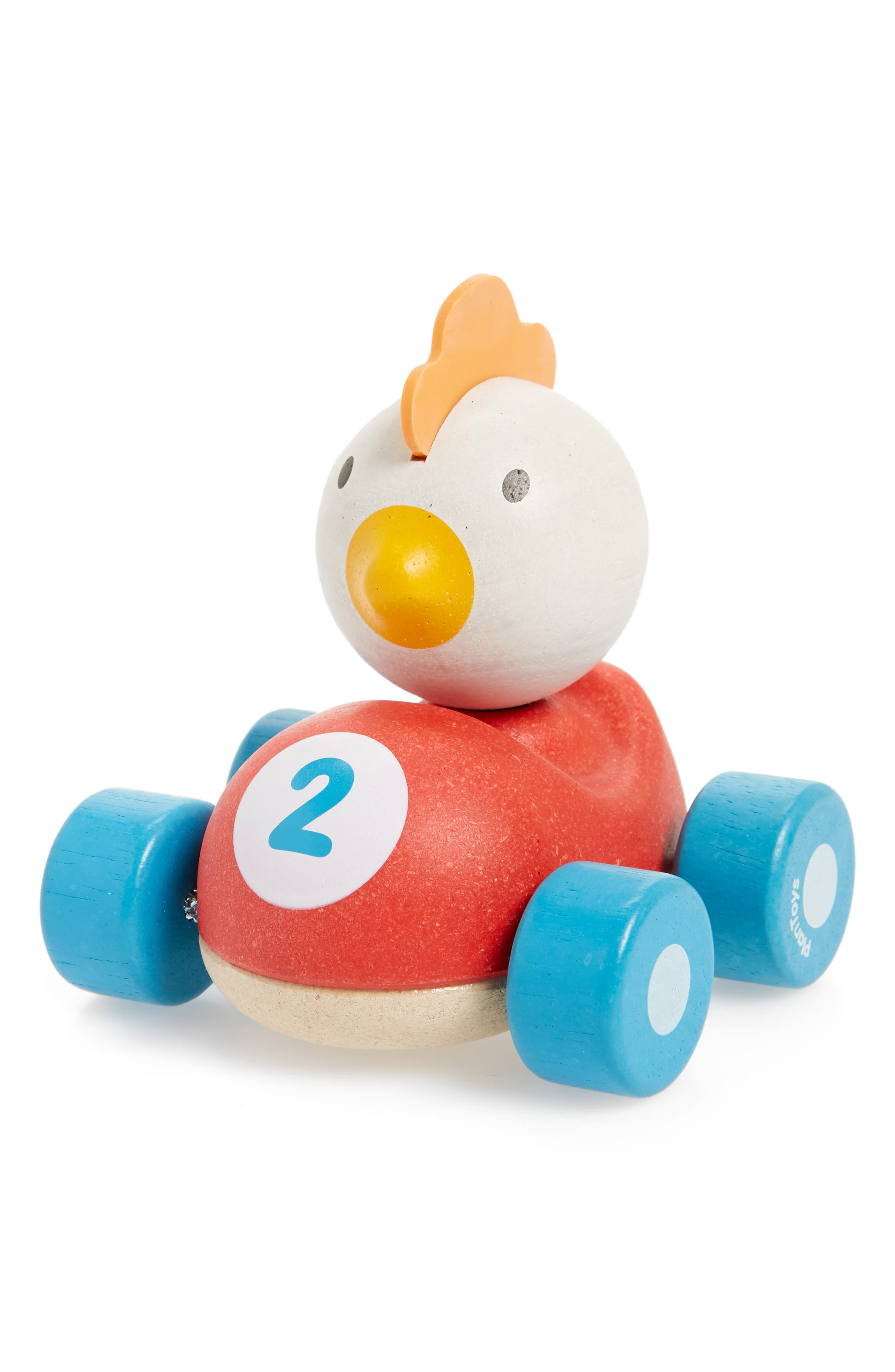 Plan Toys<sup>®</sup> Chicken Racer Rolling Toy,                             Main thumbnail 1, color,                             600