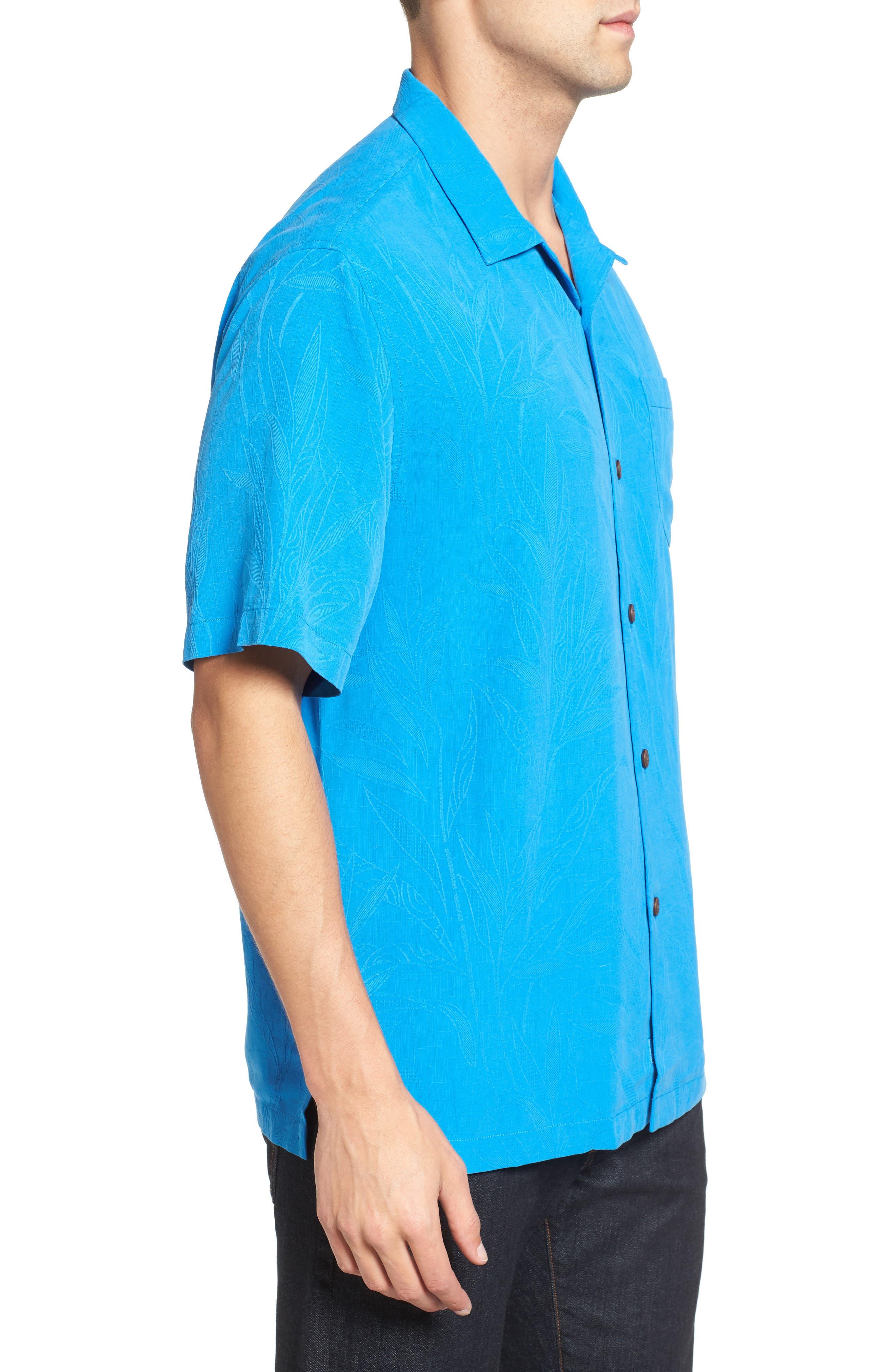 Islander Fronds Silk Camp Shirt,                             Alternate thumbnail 23, color,