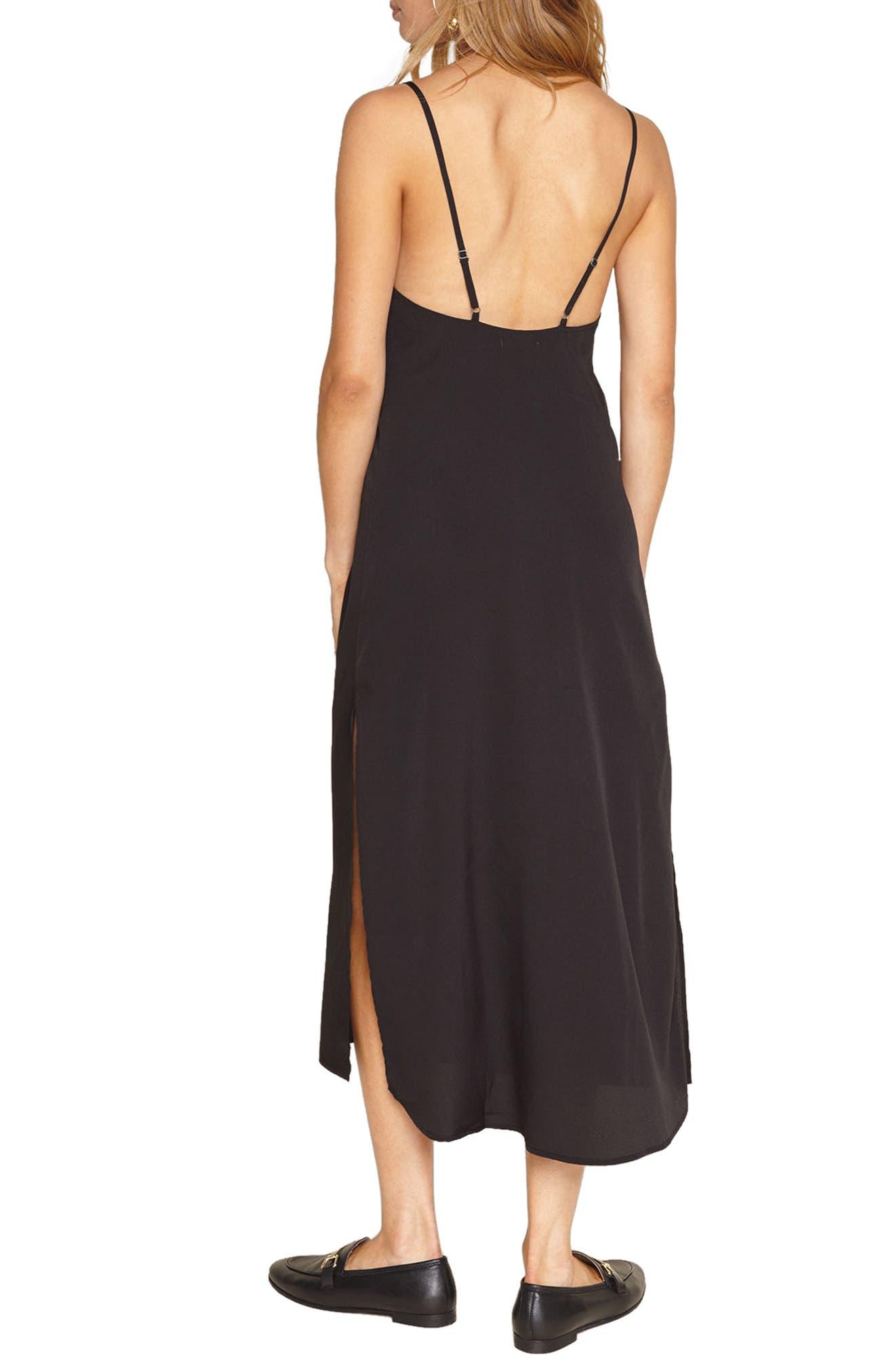 Stripe Midi Dress,                             Alternate thumbnail 2, color,                             001