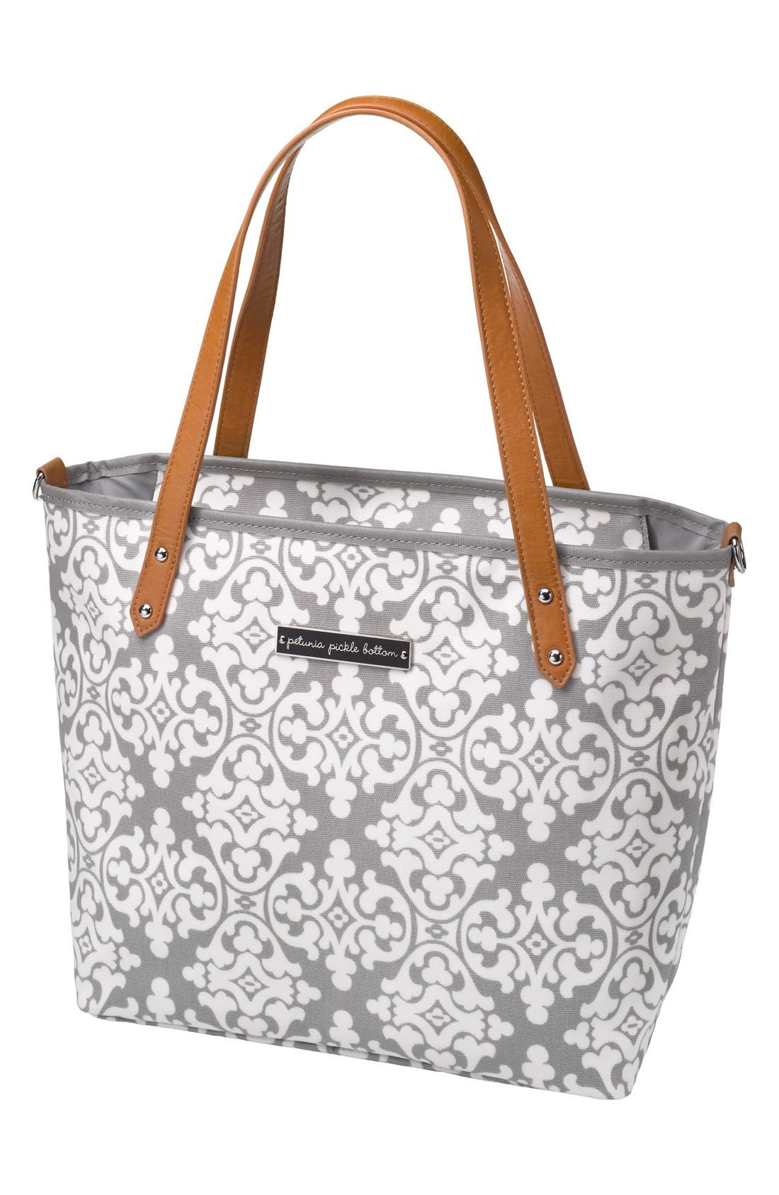 'Downtown Mini' Coated Canvas Diaper Tote,                             Main thumbnail 2, color,