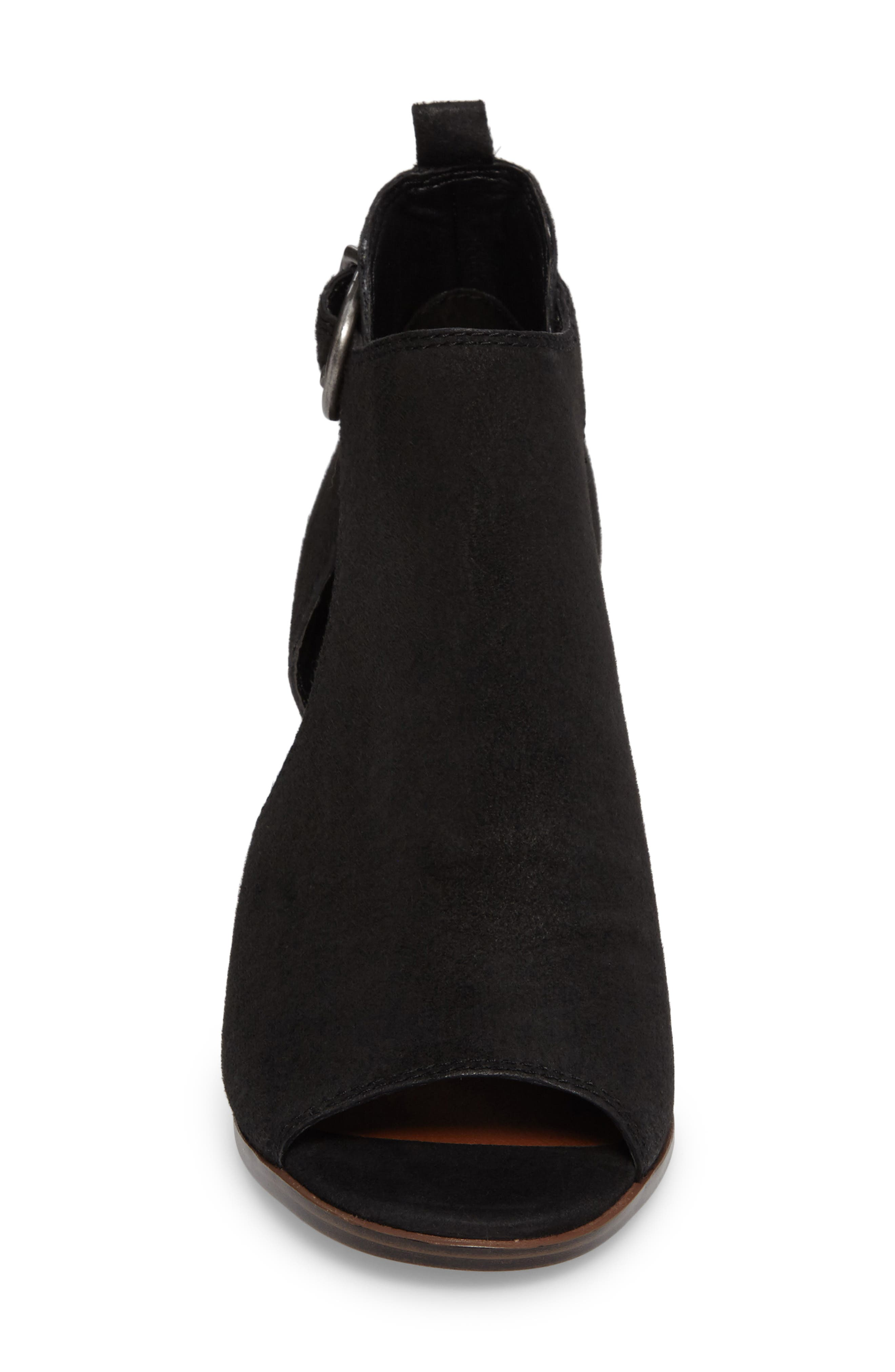 Oona Open Side Bootie,                             Alternate thumbnail 4, color,                             001