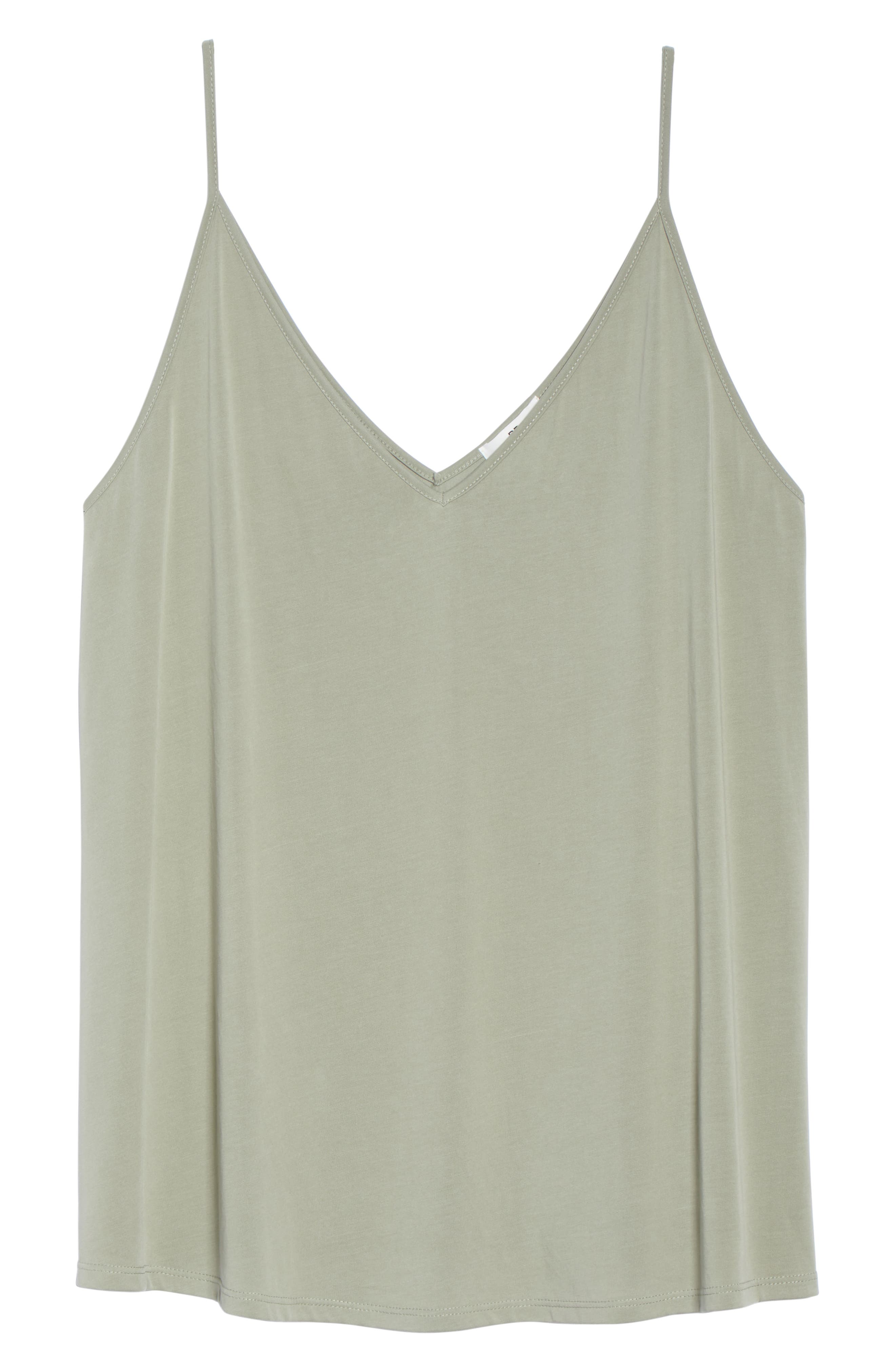 Double V Swing Camisole,                             Alternate thumbnail 11, color,                             OLIVE BURNT