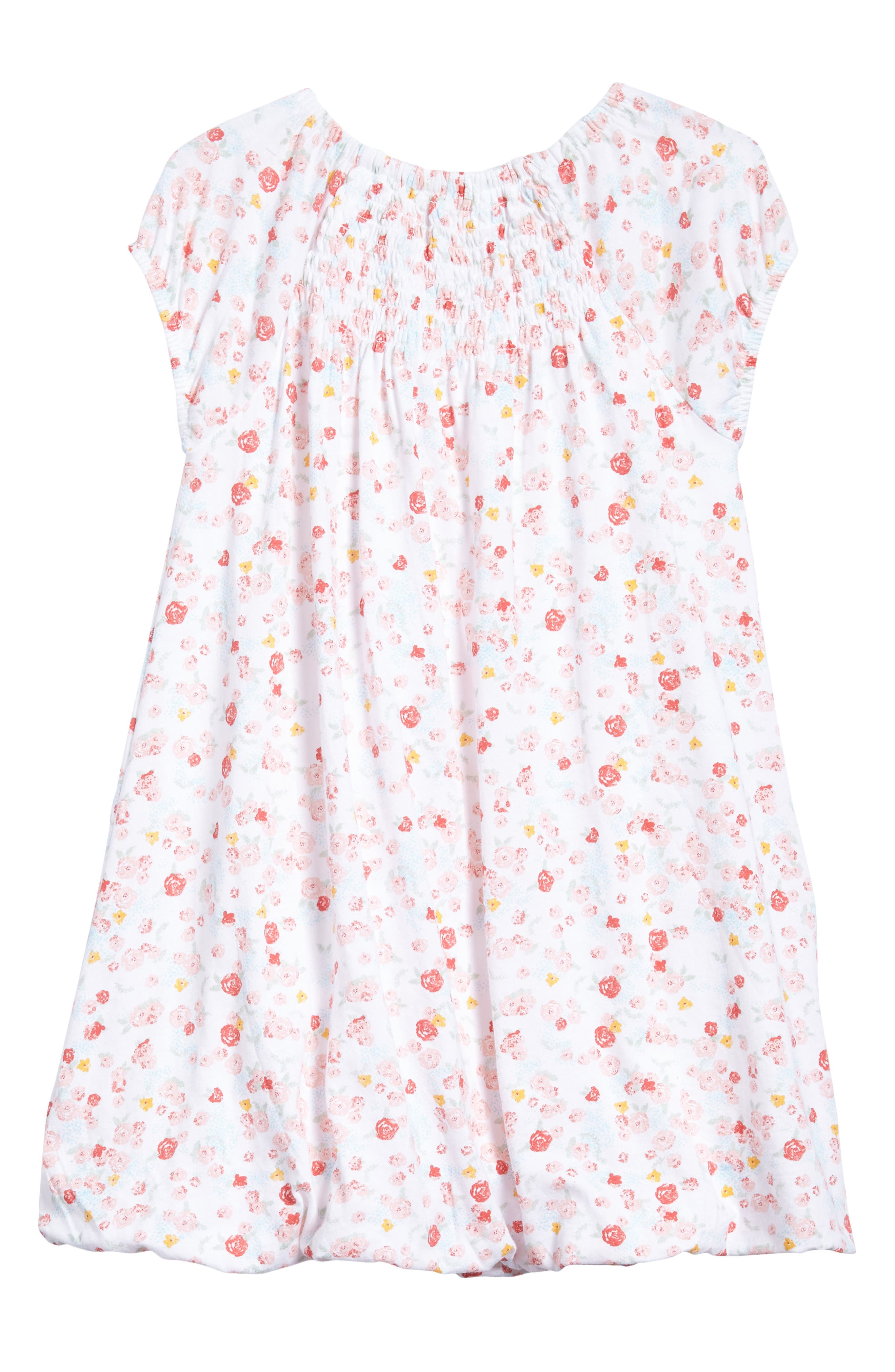 Ditsy Floral Print Bubble Dress,                             Alternate thumbnail 2, color,                             100