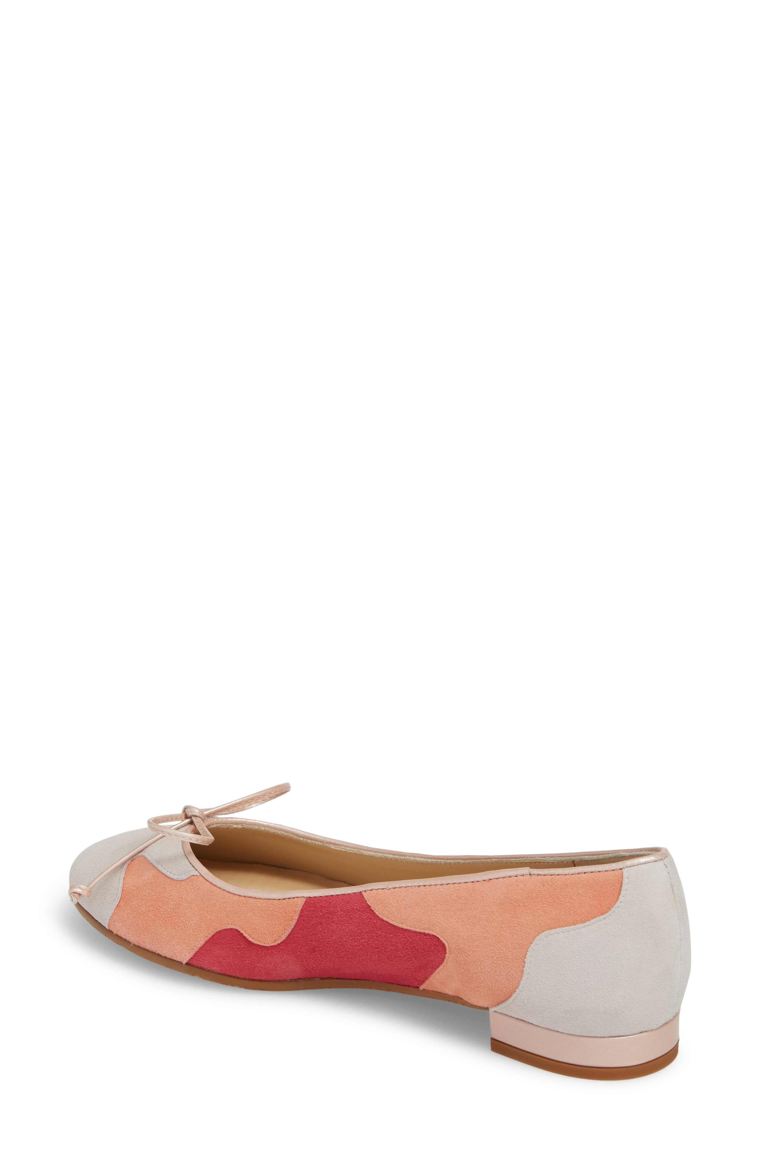 Ginevra Flat,                             Alternate thumbnail 2, color,                             BEIGE SUEDE