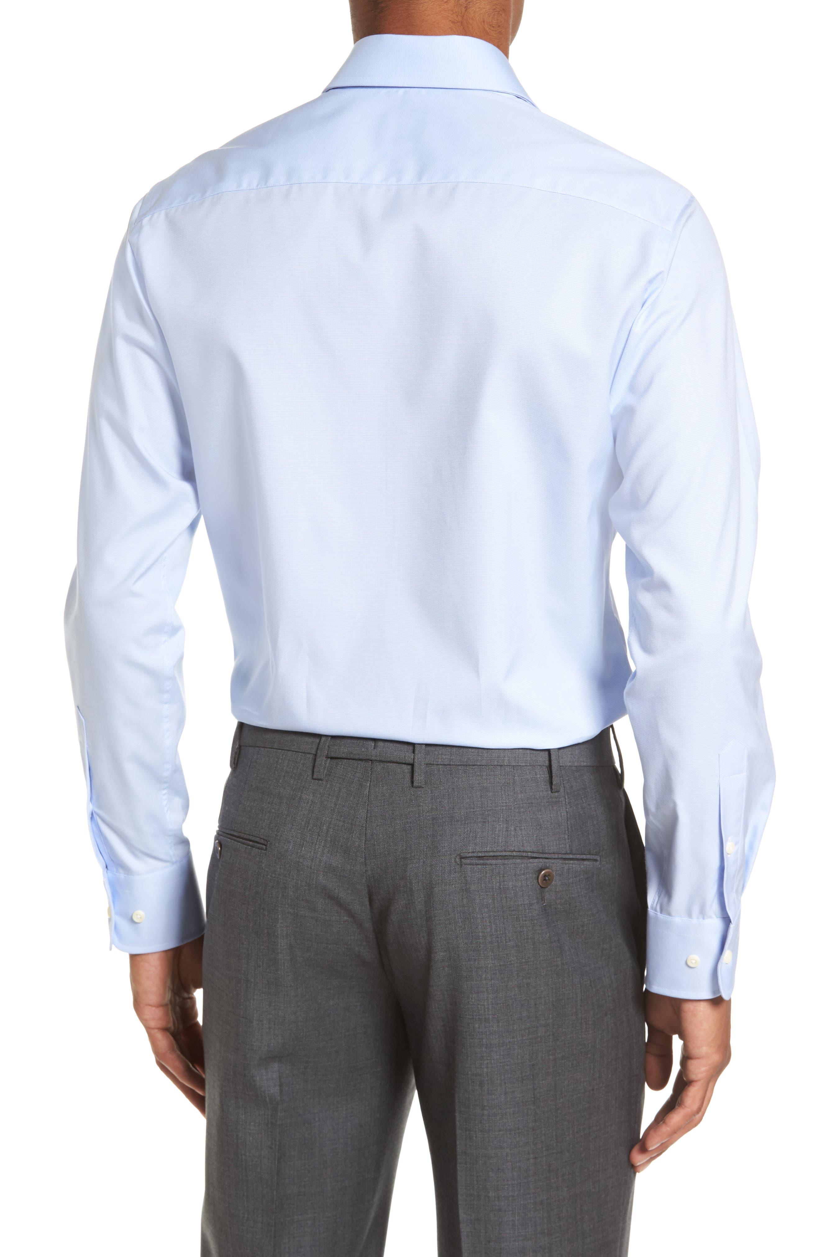 DAVID DONAHUE,                             Slim Fit Solid Dress Shirt,                             Alternate thumbnail 2, color,                             SKY