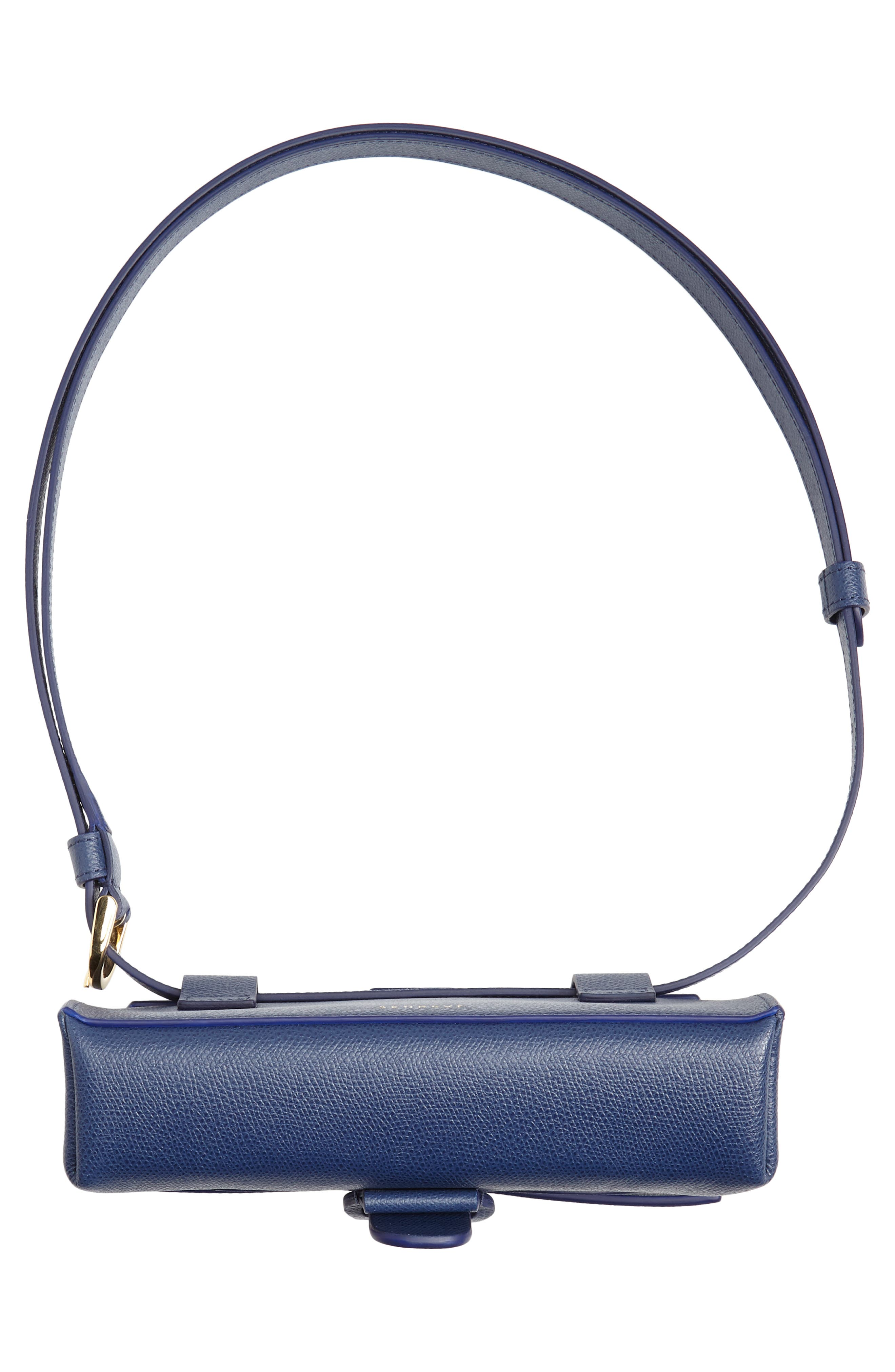 Aria Pebbled Leather Belt Bag,                             Alternate thumbnail 7, color,                             400
