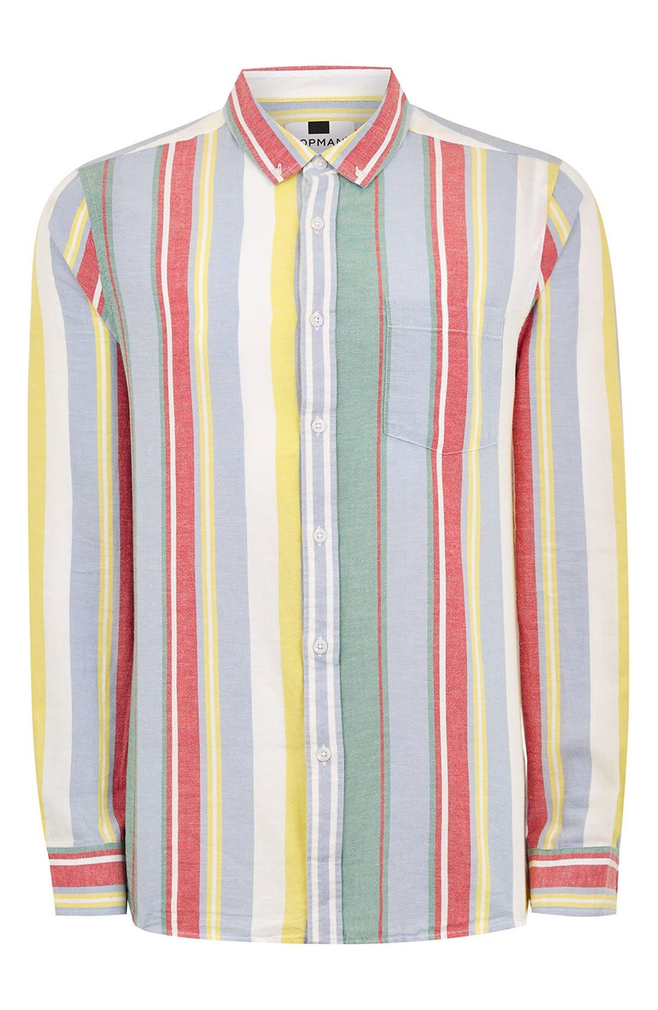 Candy Stripe Shirt,                             Alternate thumbnail 4, color,                             100