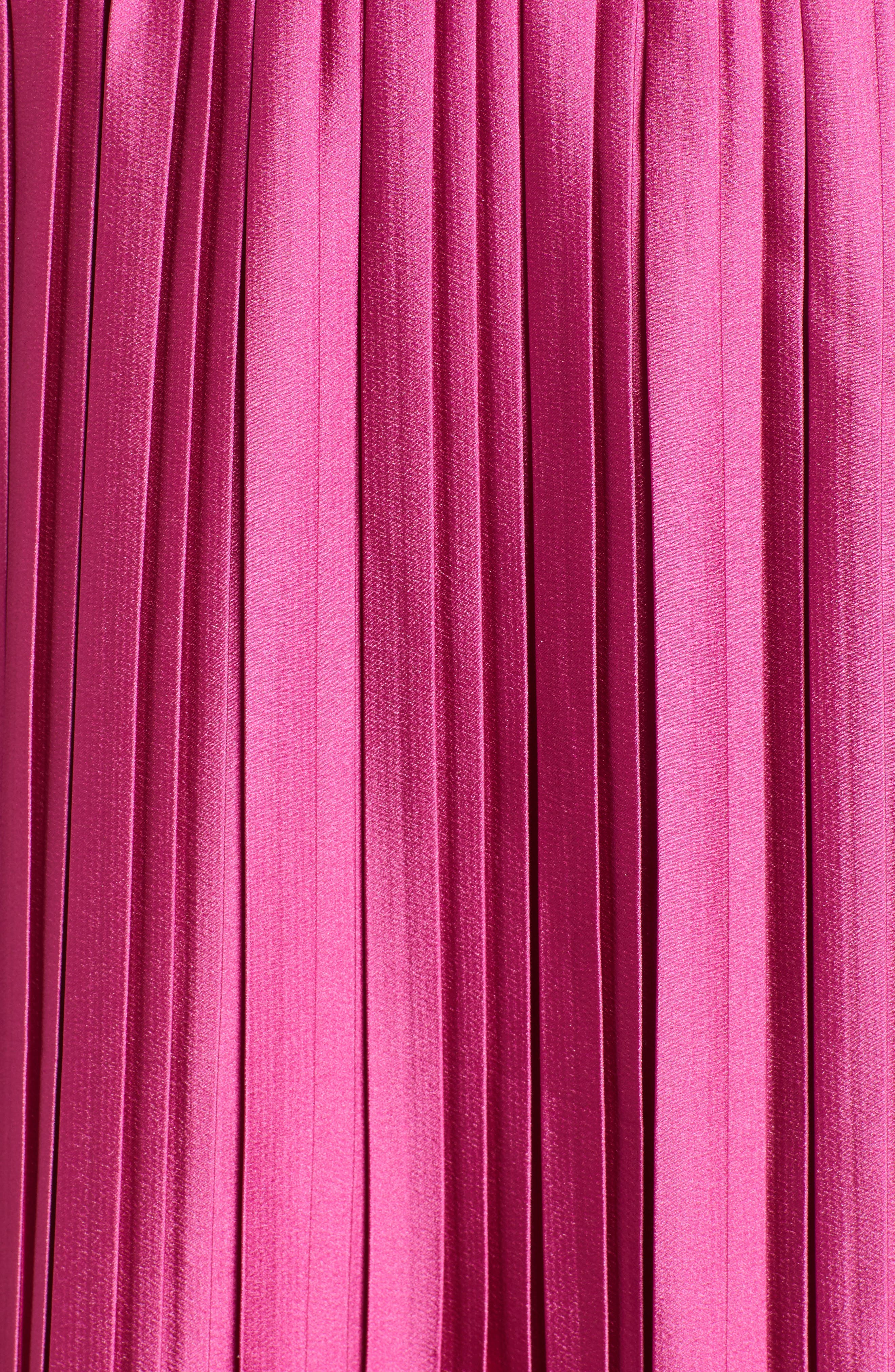 Niti Pleated Skirt,                             Alternate thumbnail 5, color,                             FESTIVAL FUCHSIA