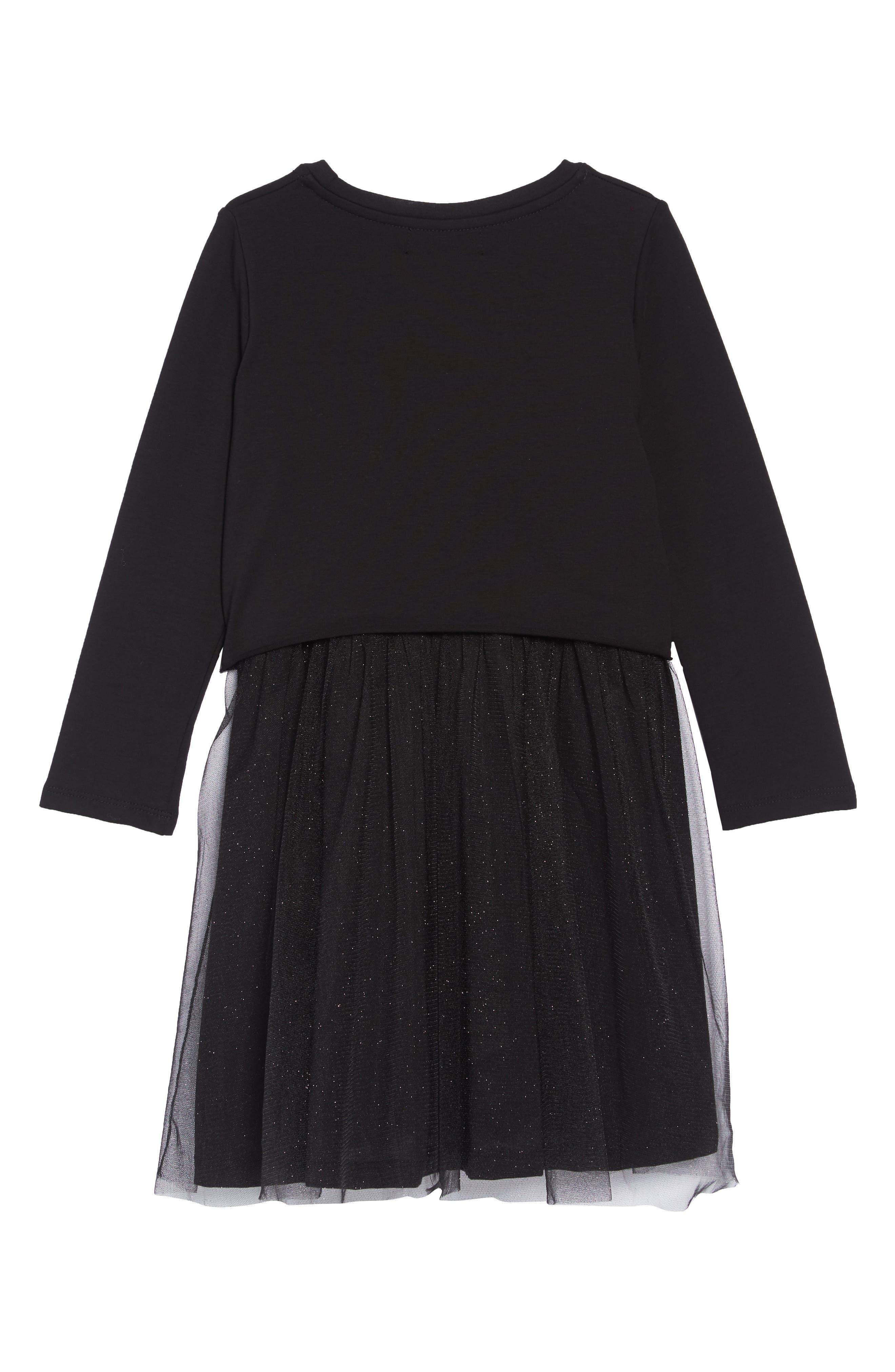 Moon Tutu Dress,                             Alternate thumbnail 2, color,                             BLACK
