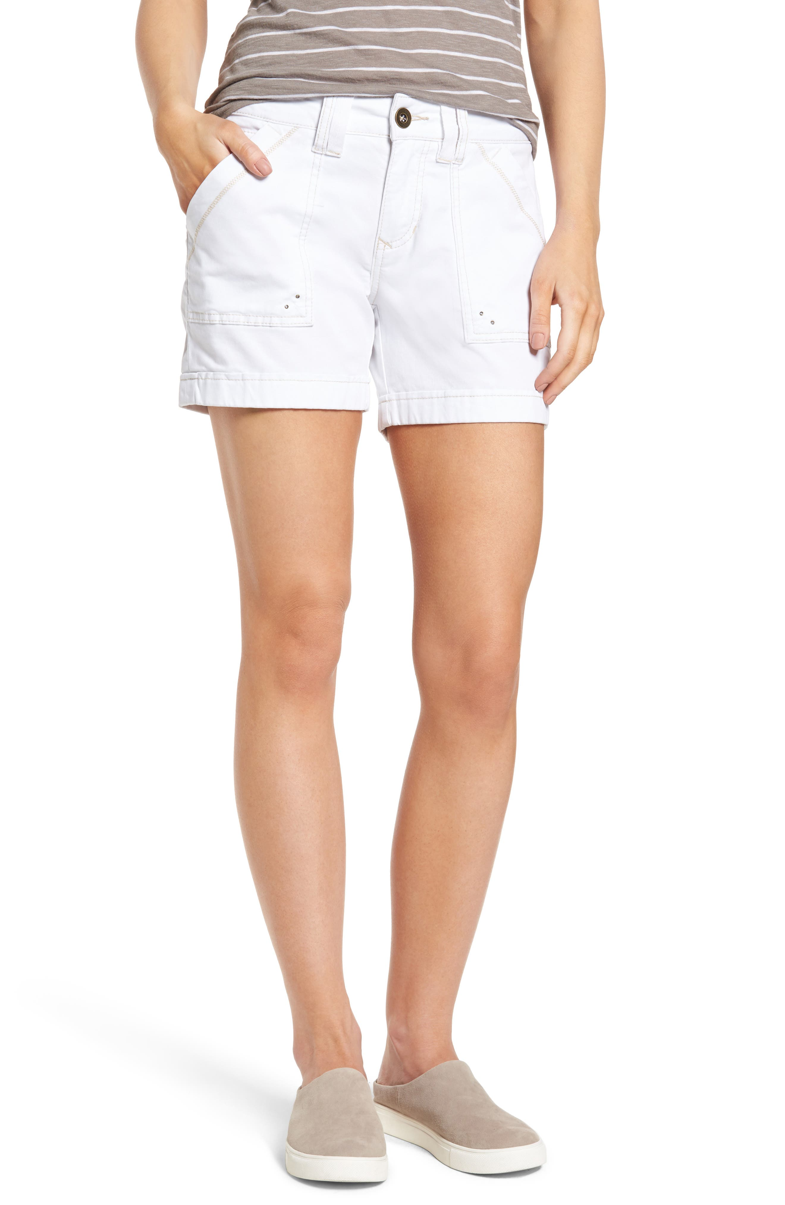 Izzy Twill Utility Shorts,                         Main,                         color, 168