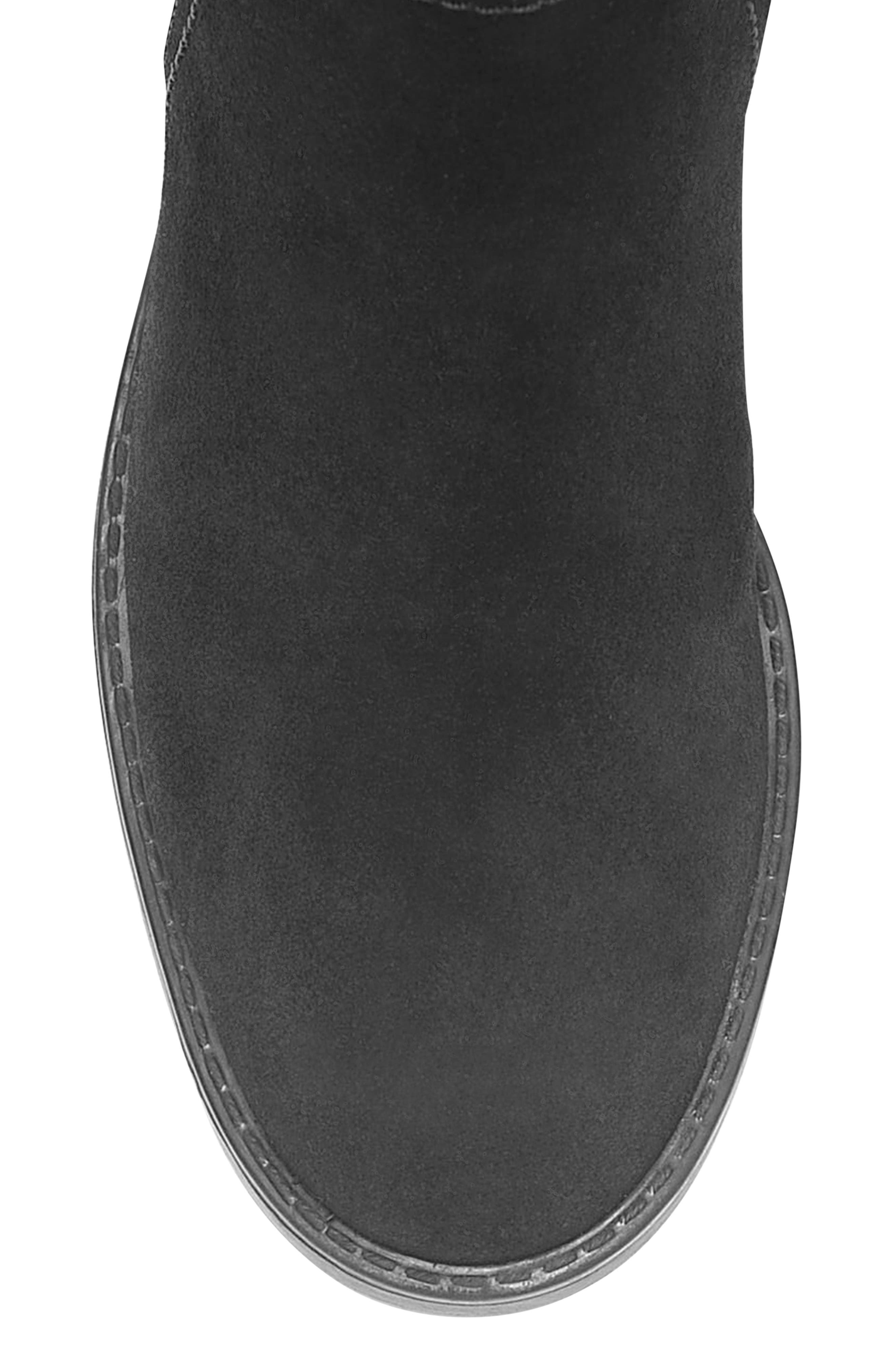 Evie Riding Waterproof Boot,                             Alternate thumbnail 5, color,                             BLACK SUEDE