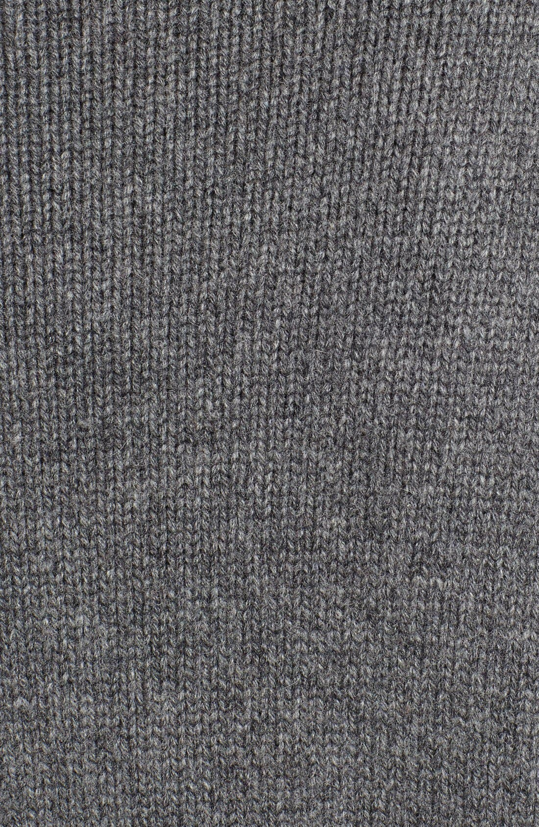Studded Crewneck Cashmere Sweater,                             Alternate thumbnail 5, color,                             GREY