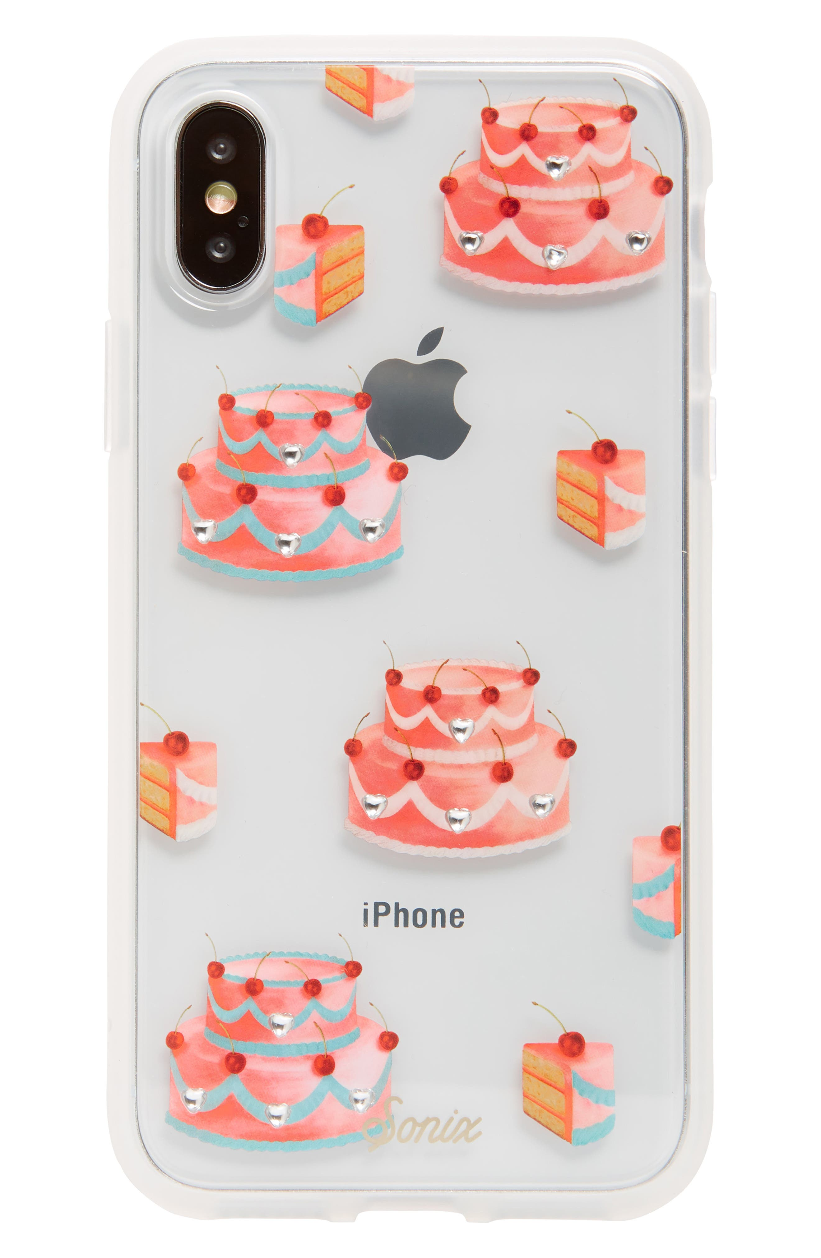SONIX,                             Fancy Cake iPhone X/Xs, XR & X Max Case,                             Main thumbnail 1, color,                             PINK