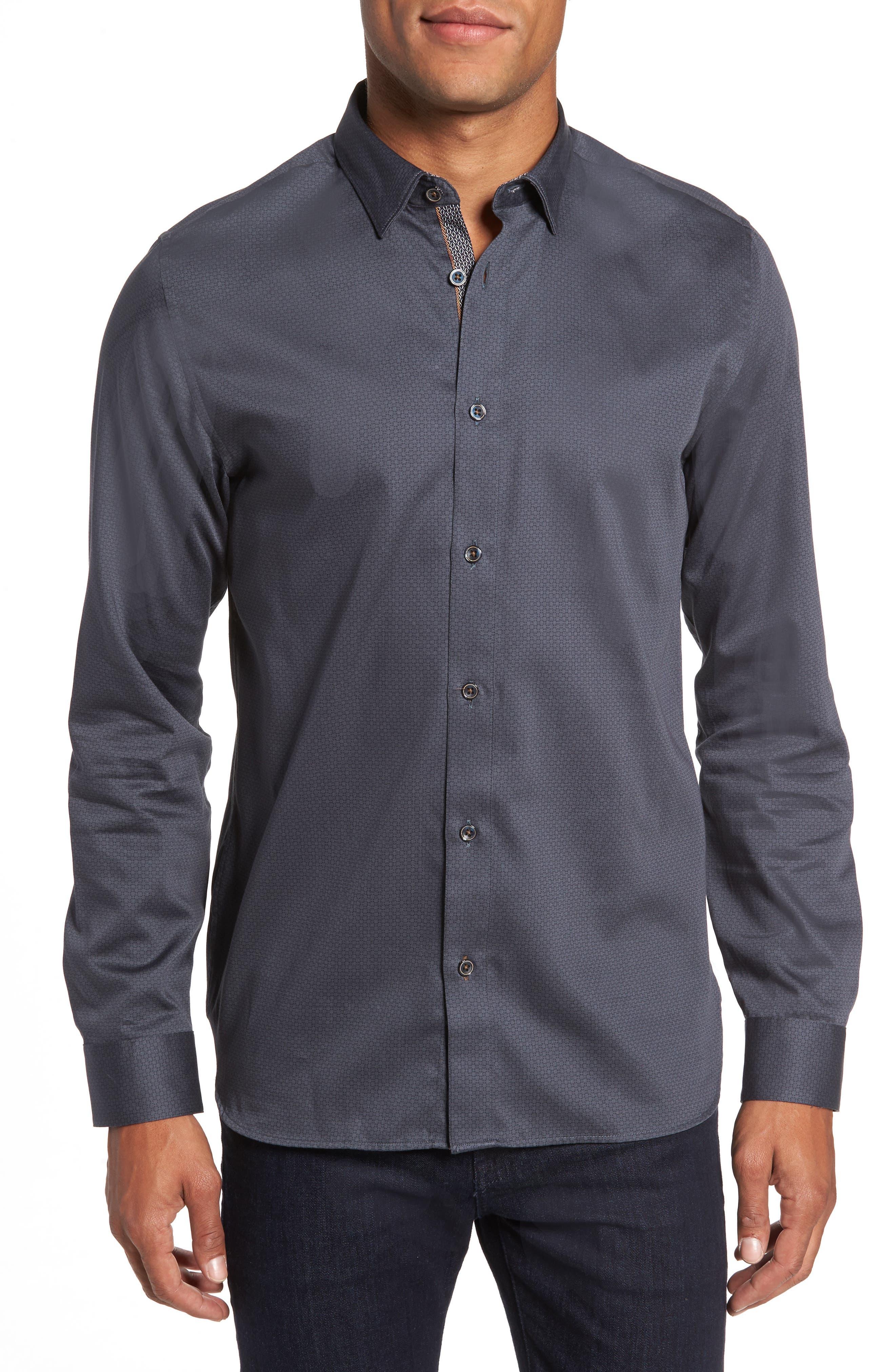 Strazbo Tonal Print Sport Shirt,                         Main,                         color, 030