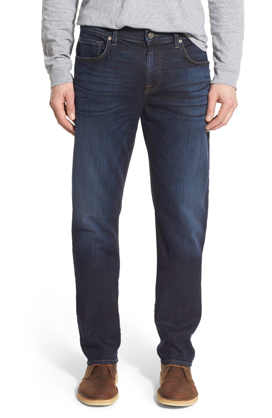 7 FOR ALL MANKIND<SUP>®</SUP>,                             'Straight' Slim Straight Leg Jeans,                             Main thumbnail 1, color,                             400