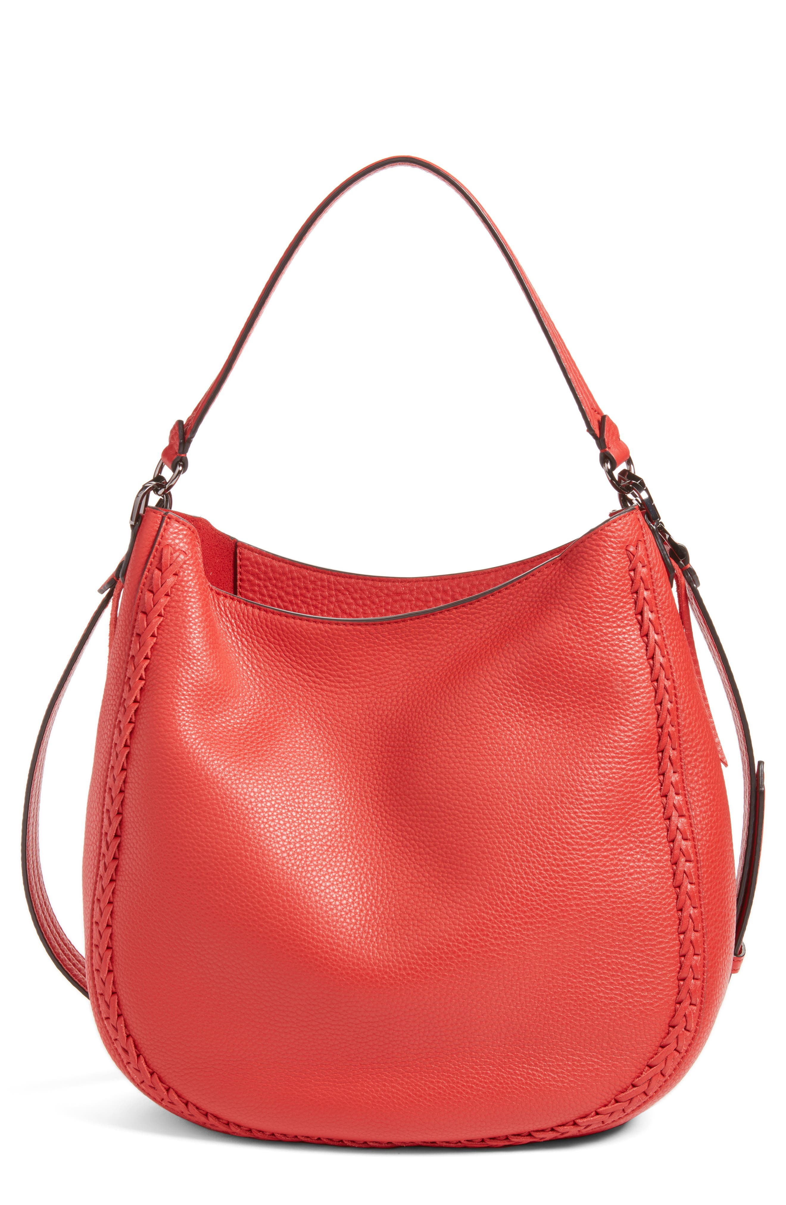 Unlined Convertible Whipstitch Hobo,                             Main thumbnail 7, color,