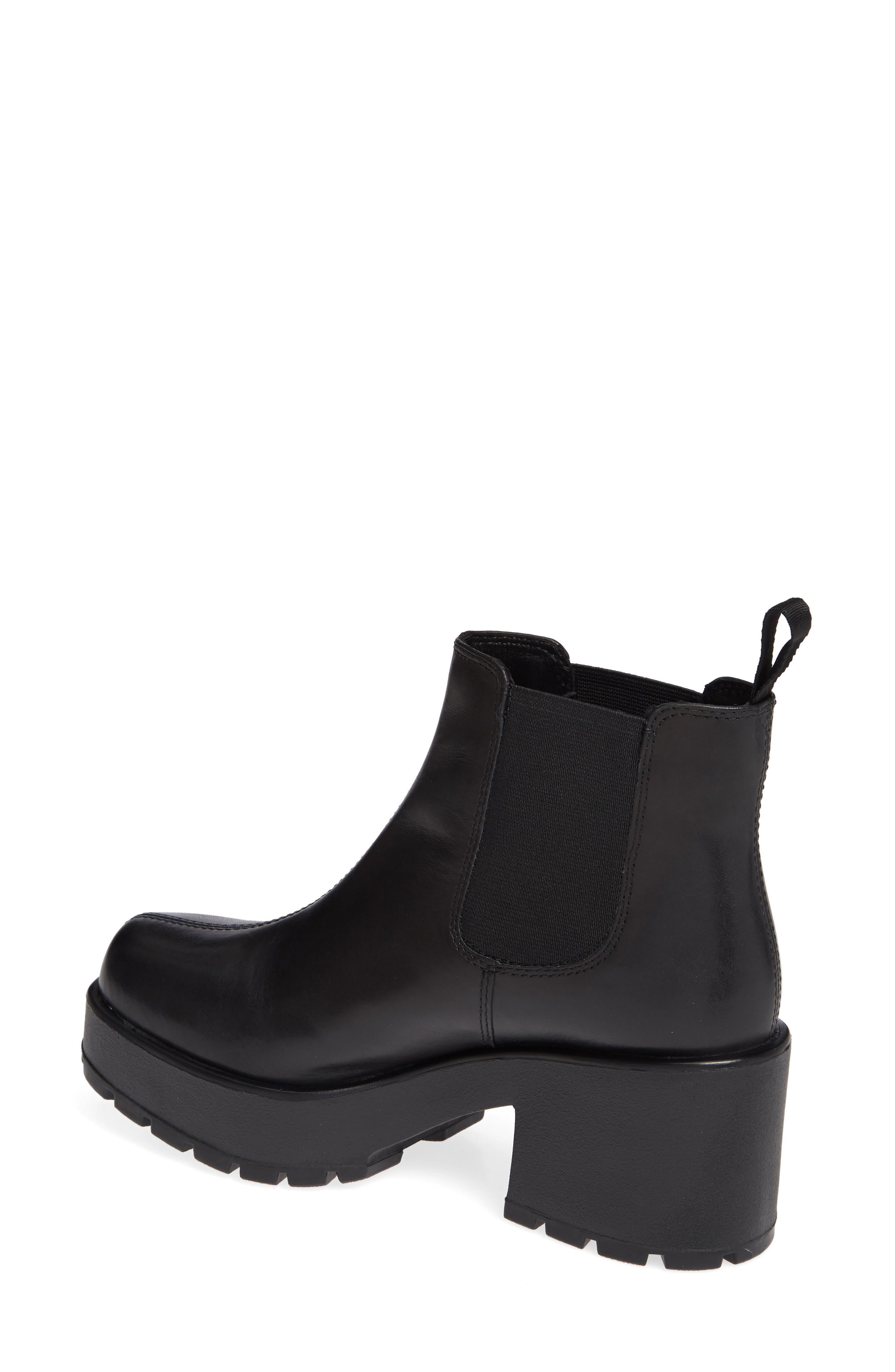 VAGABOND,                             Shoemakers Dioon Platform Chelsea Bootie,                             Alternate thumbnail 2, color,                             BLACK LEATHER