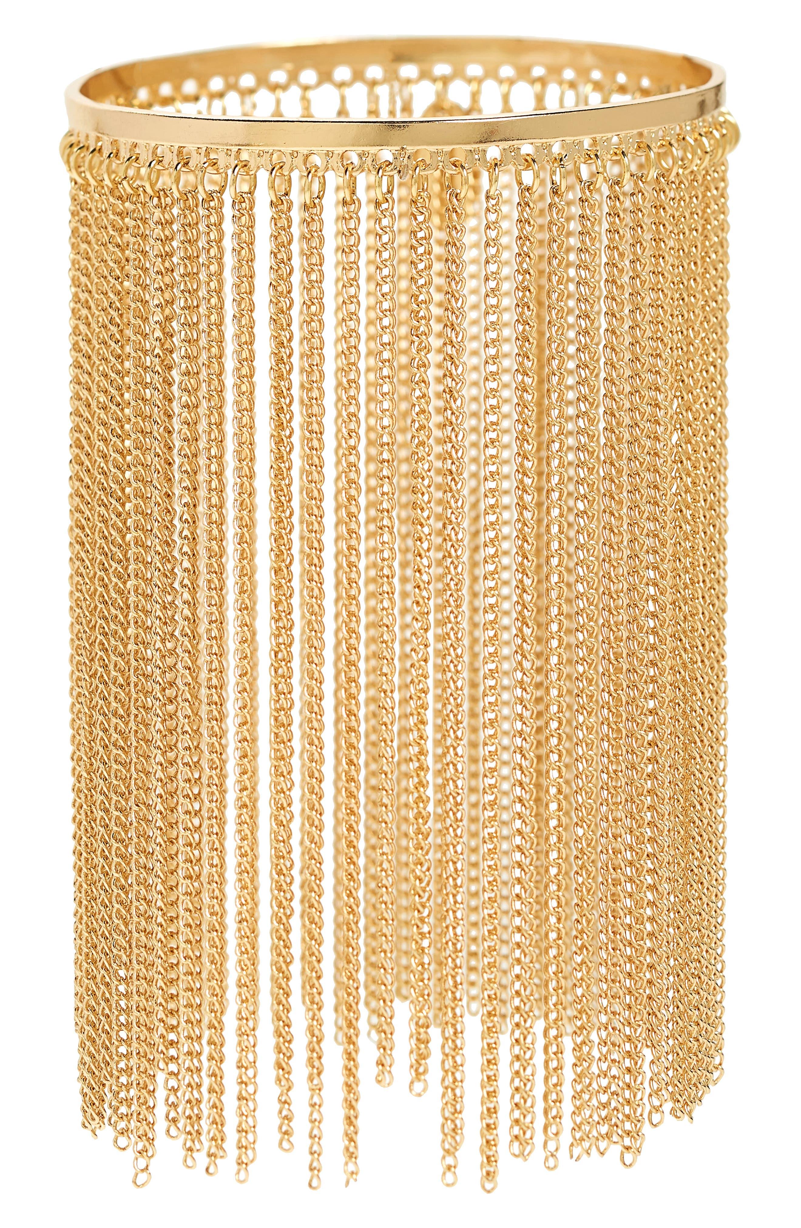 Chain Fringe Bracelet,                             Main thumbnail 2, color,