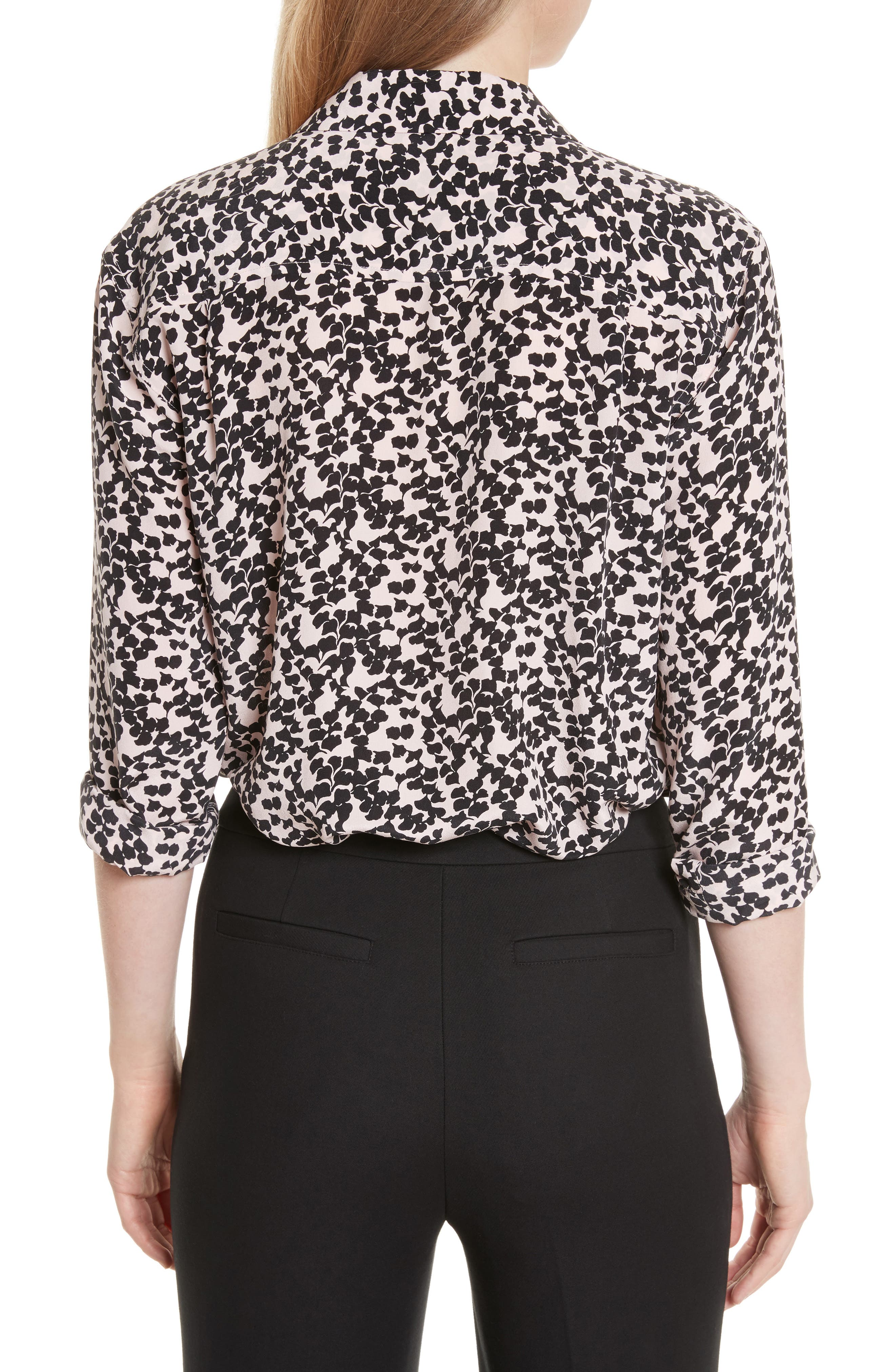 Reese Print Silk Shirt,                             Alternate thumbnail 2, color,                             691